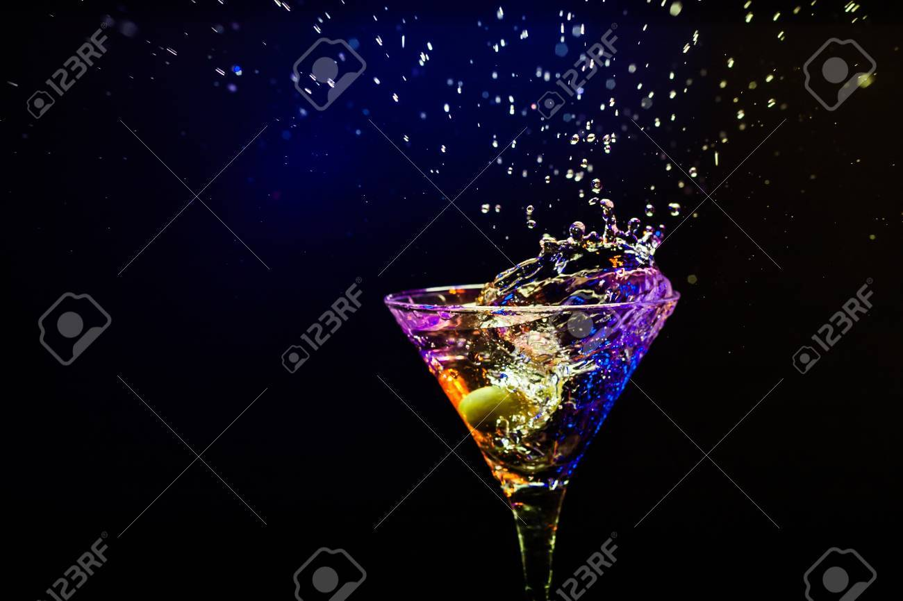 fresh coctail on the black background Stock Photo - 15276481