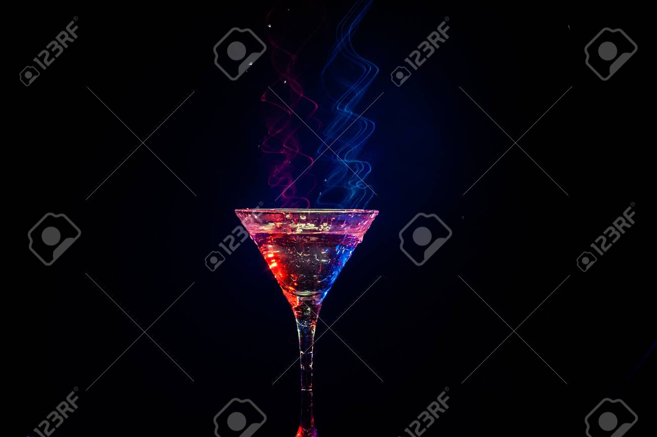 fresh coctail on the black background Stock Photo - 15276474