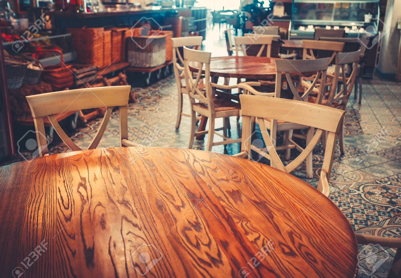 Modern And Simple Cafe Interior With Wooden Classical Furniture Stock Photo Picture And Royalty Free Image Image 89776060
