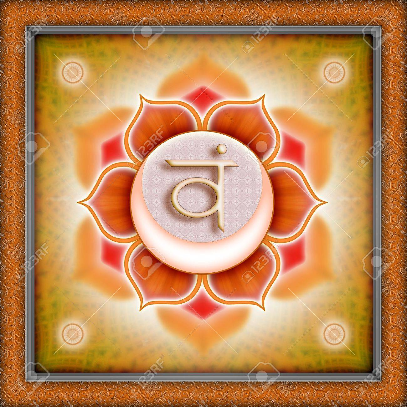 chakra svadhisthana Stock Photo - 9788301