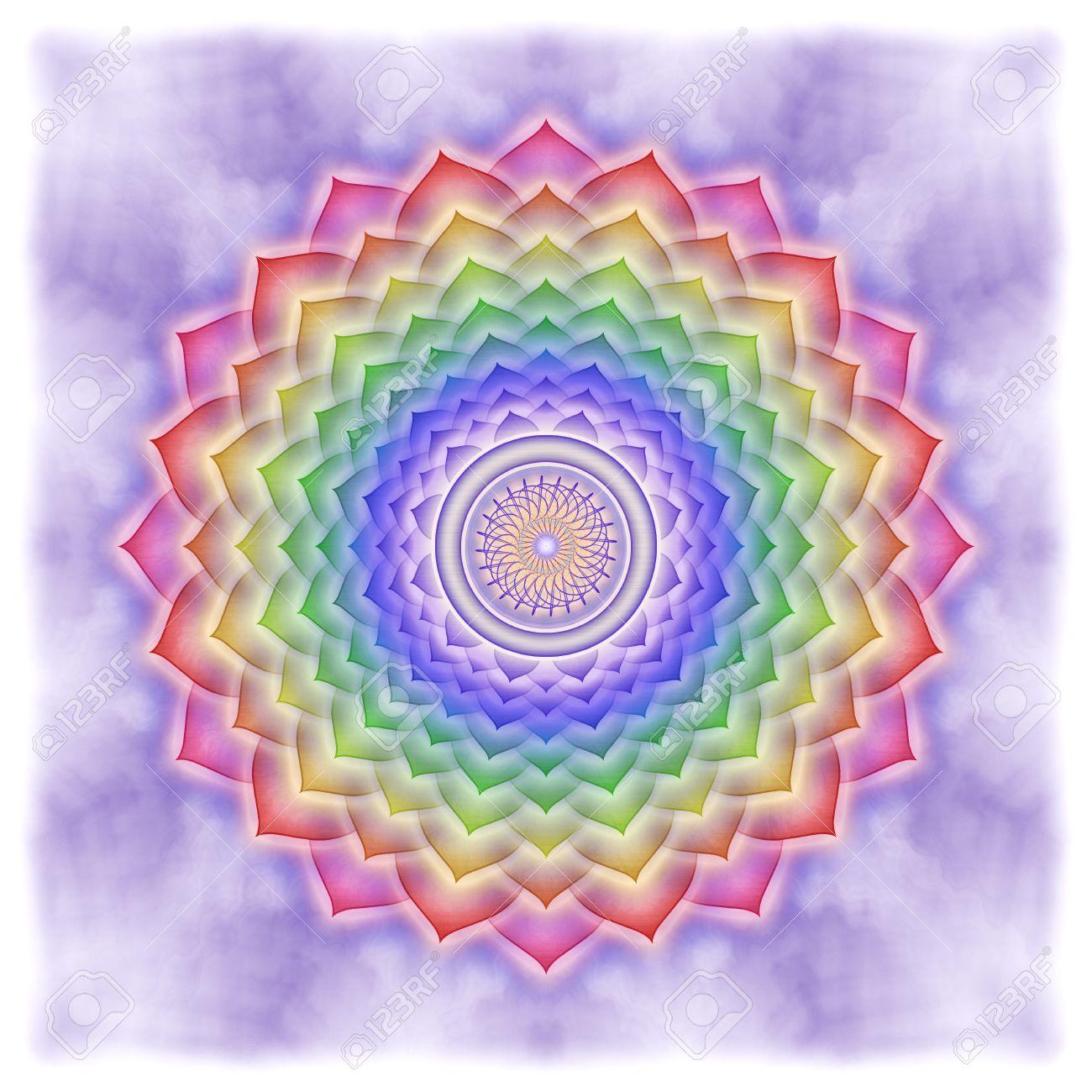 Crown Chakra Rainbow Colors Stock Photo - 25311000