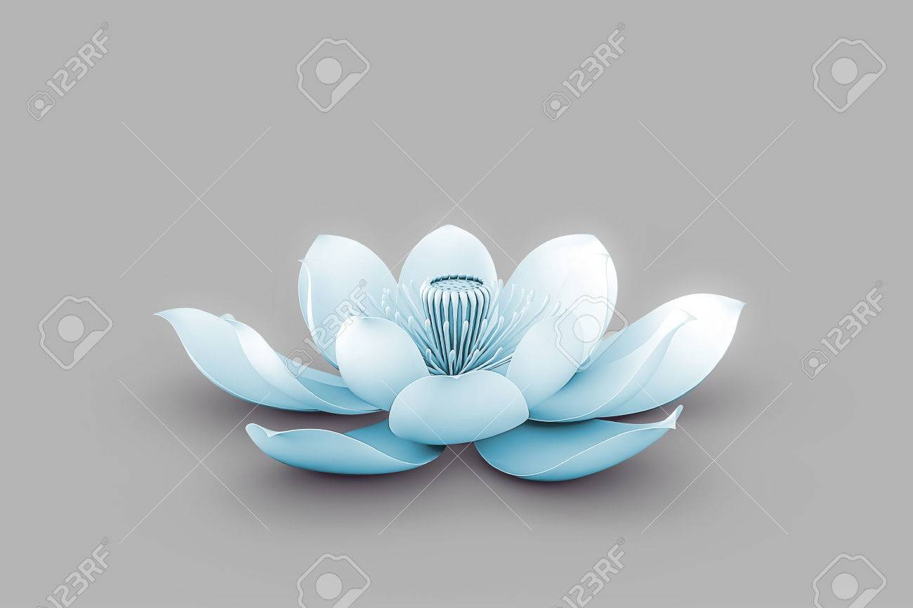 Lotus Flower In Chakra Color Blue Stock Photo Picture And Royalty