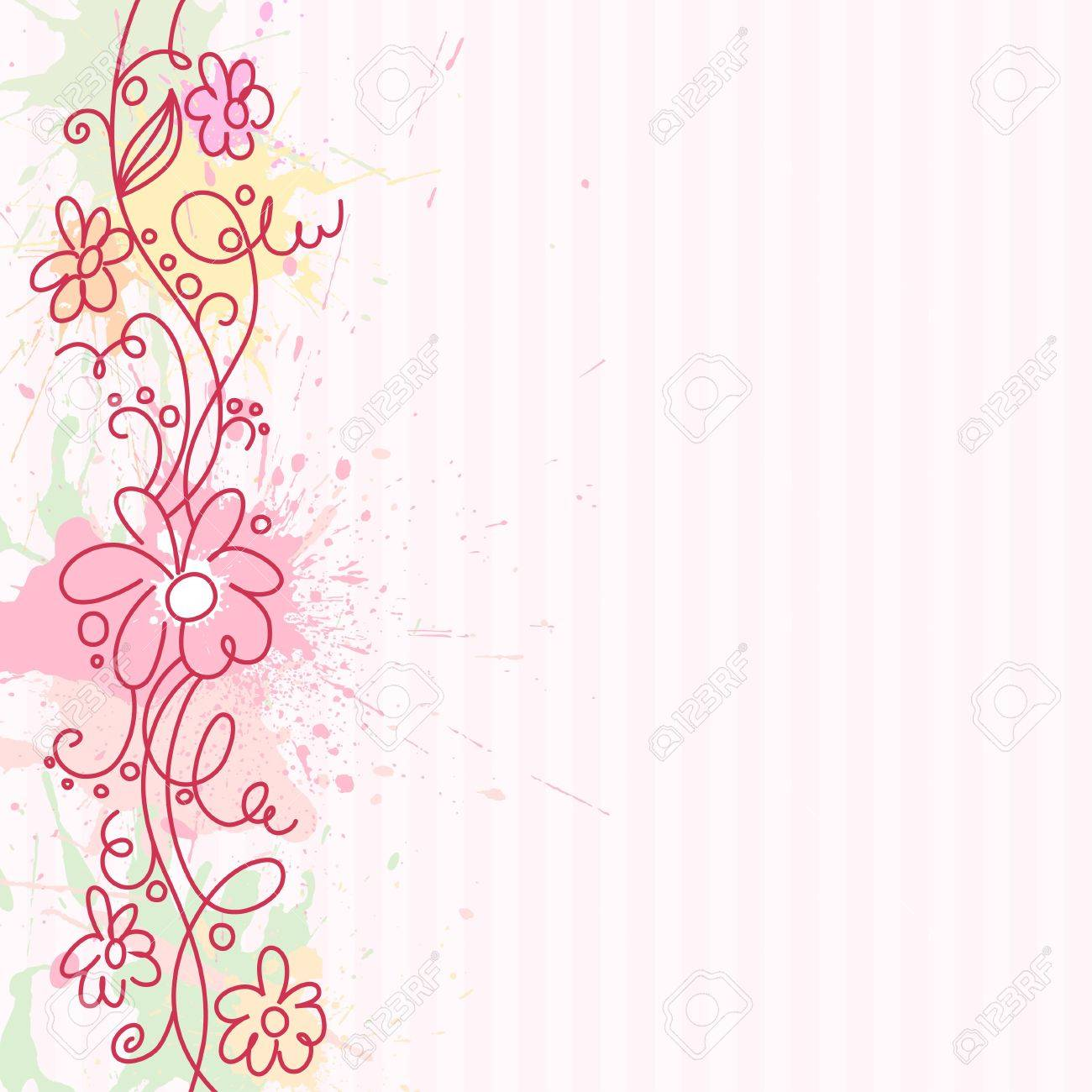A square background with vertical decorative border Stock Photo - 7927040