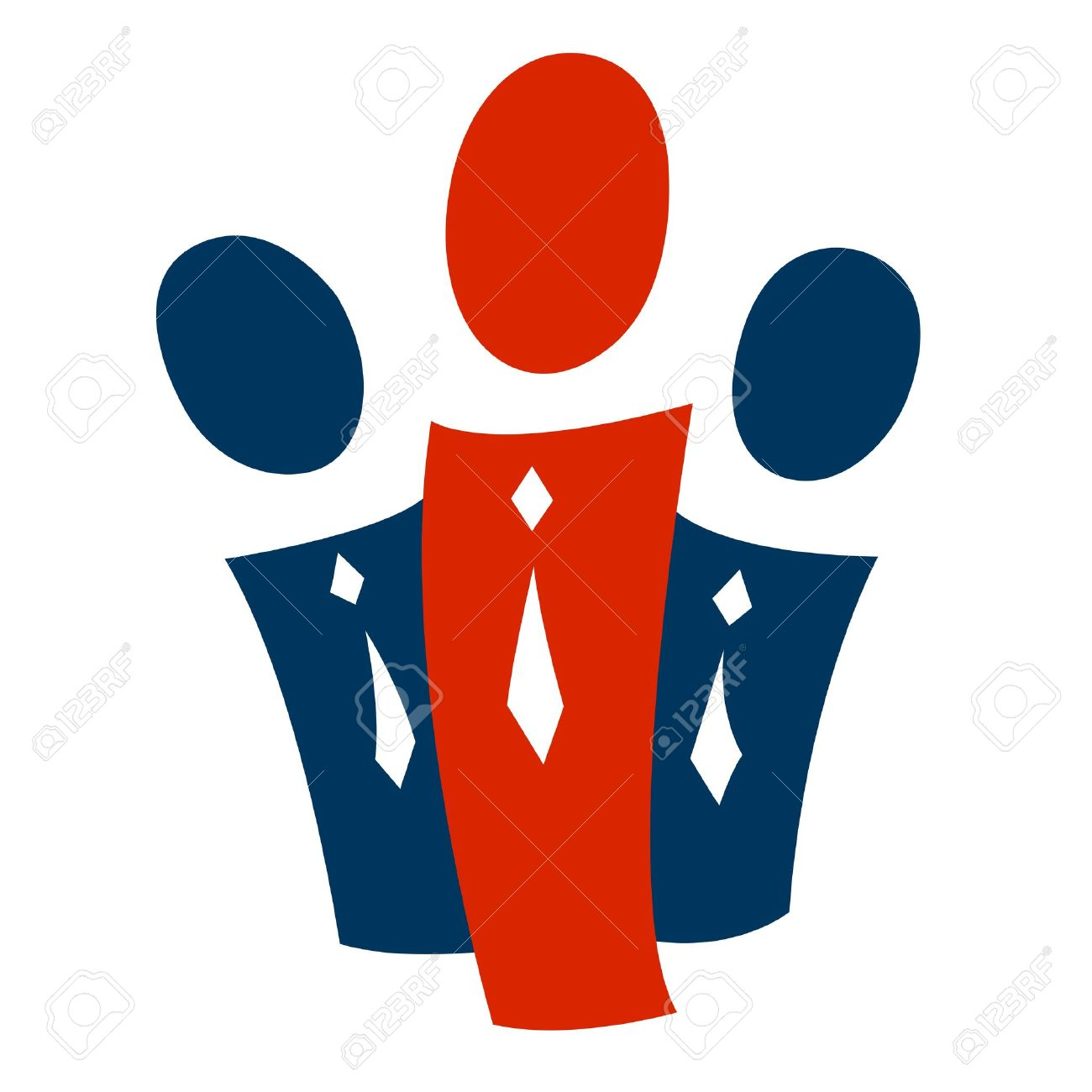 A pictogram with a group of people and a leader Stock Photo - 8745898