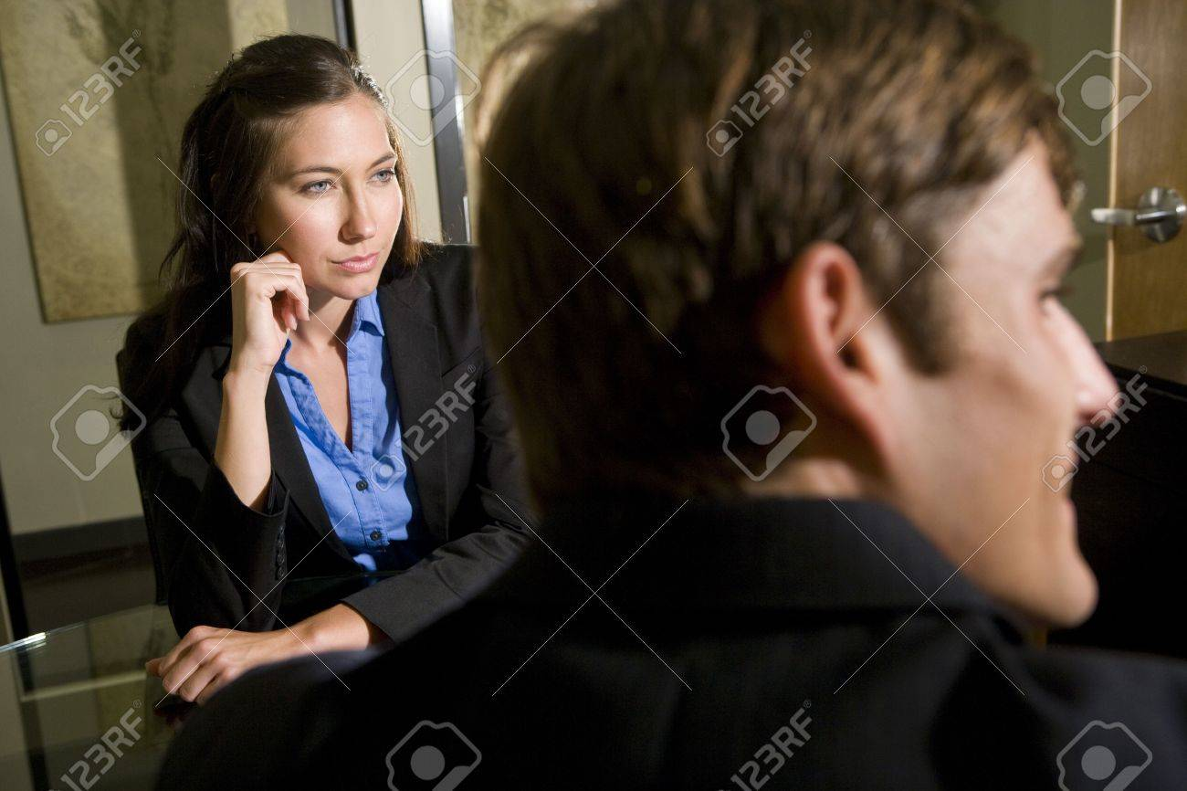 Closeup of young business people in meeting listening intently Stock Photo - 6189578