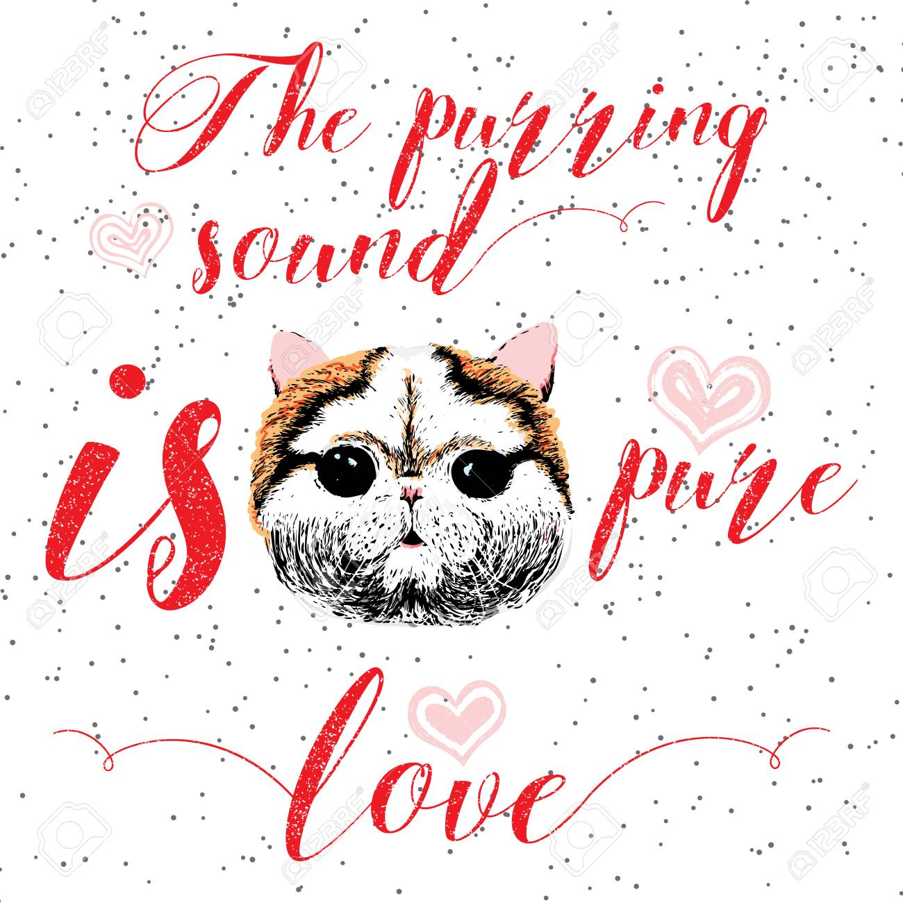 The Purring Sound Is Pure Love Greeting Card And Motivational