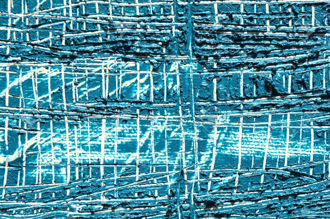 Fond D Arrière Plan Grunge Point De Peinture à L Huile De Gradient Bleu Peinture Acrylique Artistique Sur Une Palette Traits De Brosses Bleues De