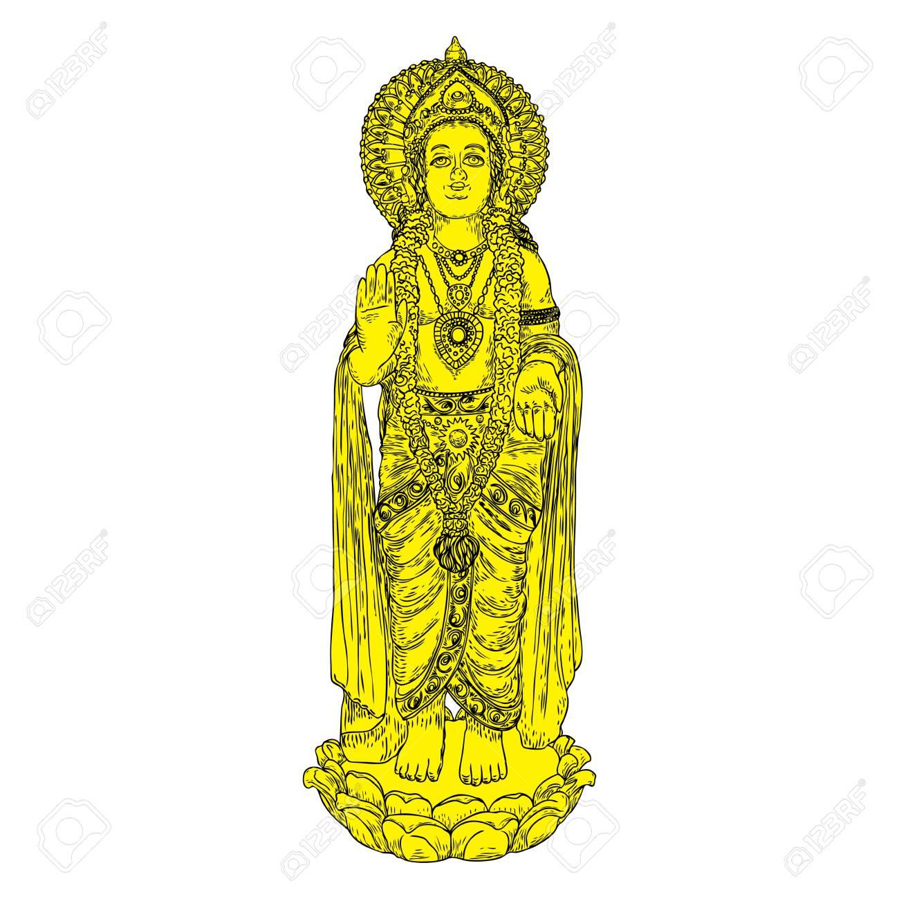 Lord Murugan Classic Statue Drawing God Of War Son Of Shiva