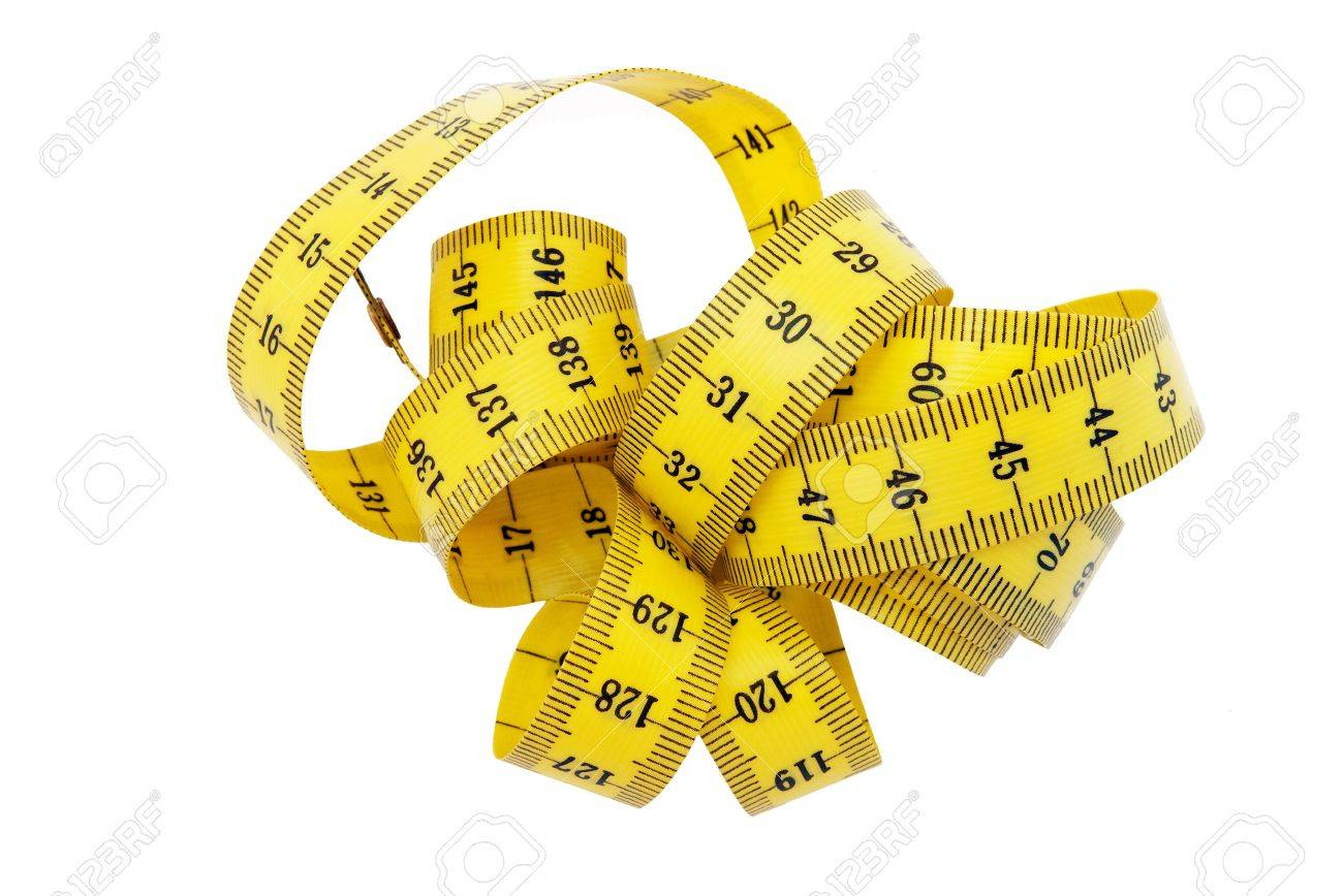 bundled metric tape measure stock photo