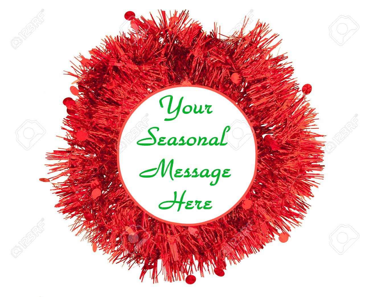 Christmas message garland - red. Isolated. Stock Photo - 7987114