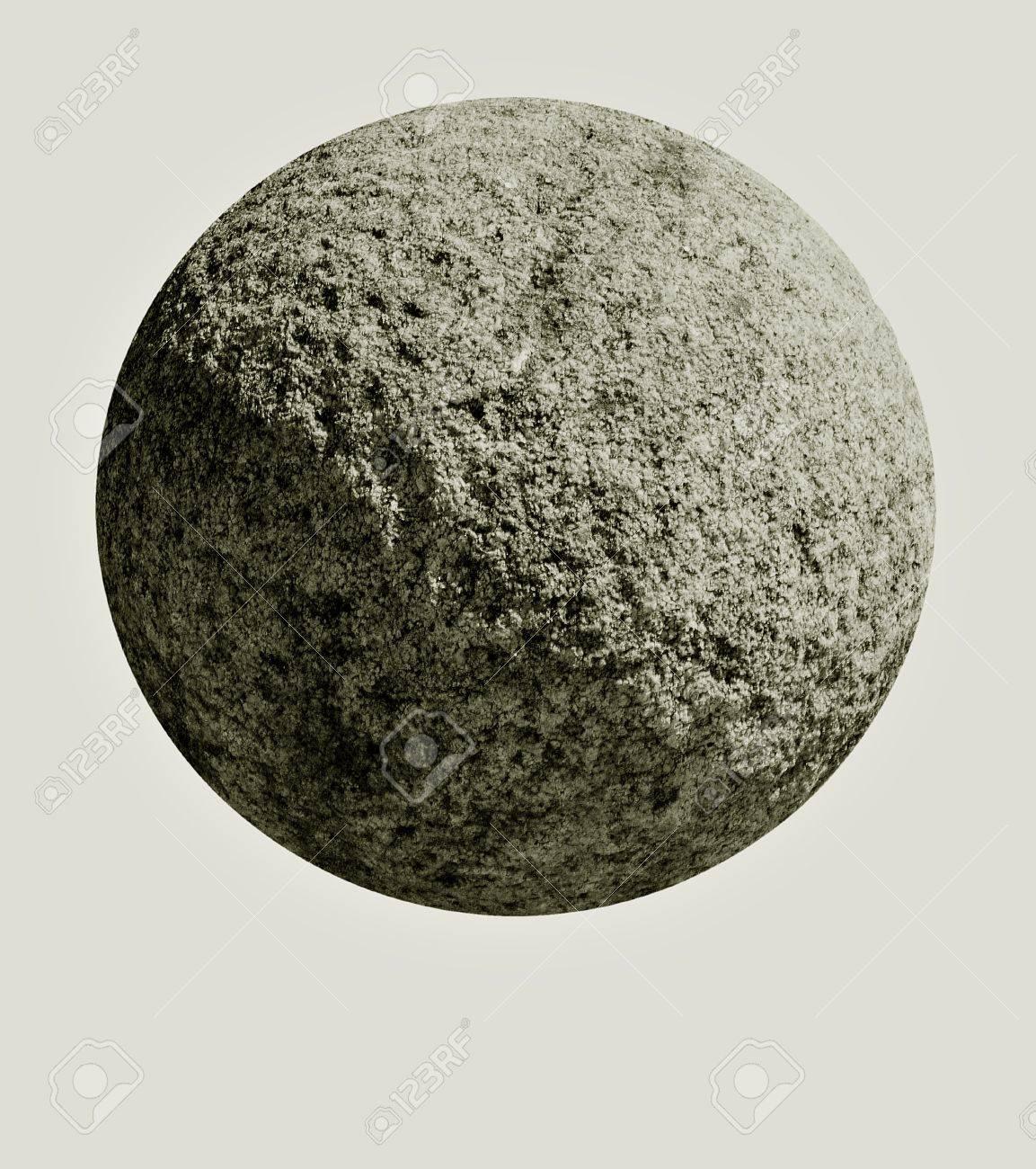 石オーブ - ライトグレーを分離...
