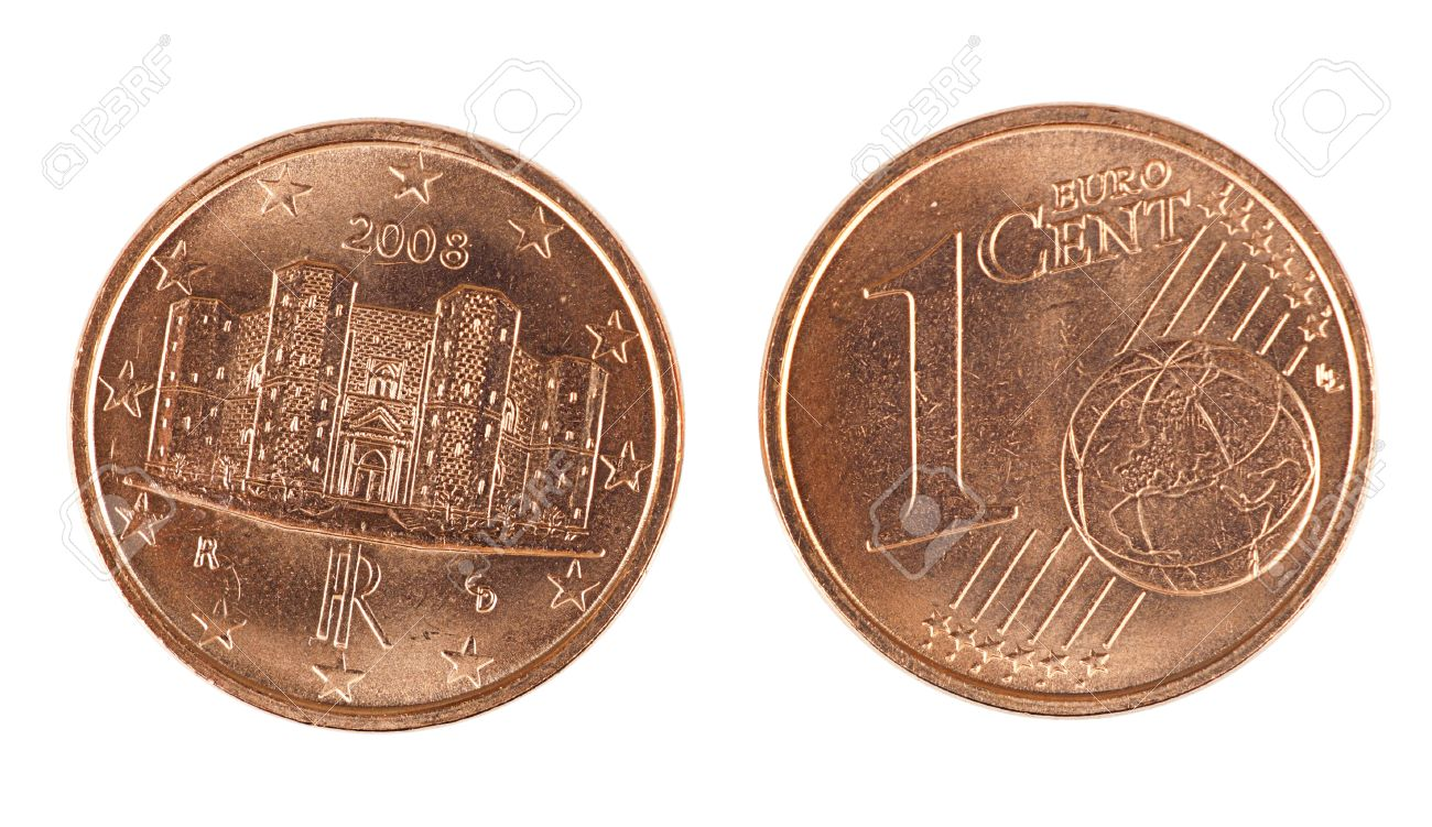 Euro Cent Currency Coin Front And Back Isolated Stock P O 10618725