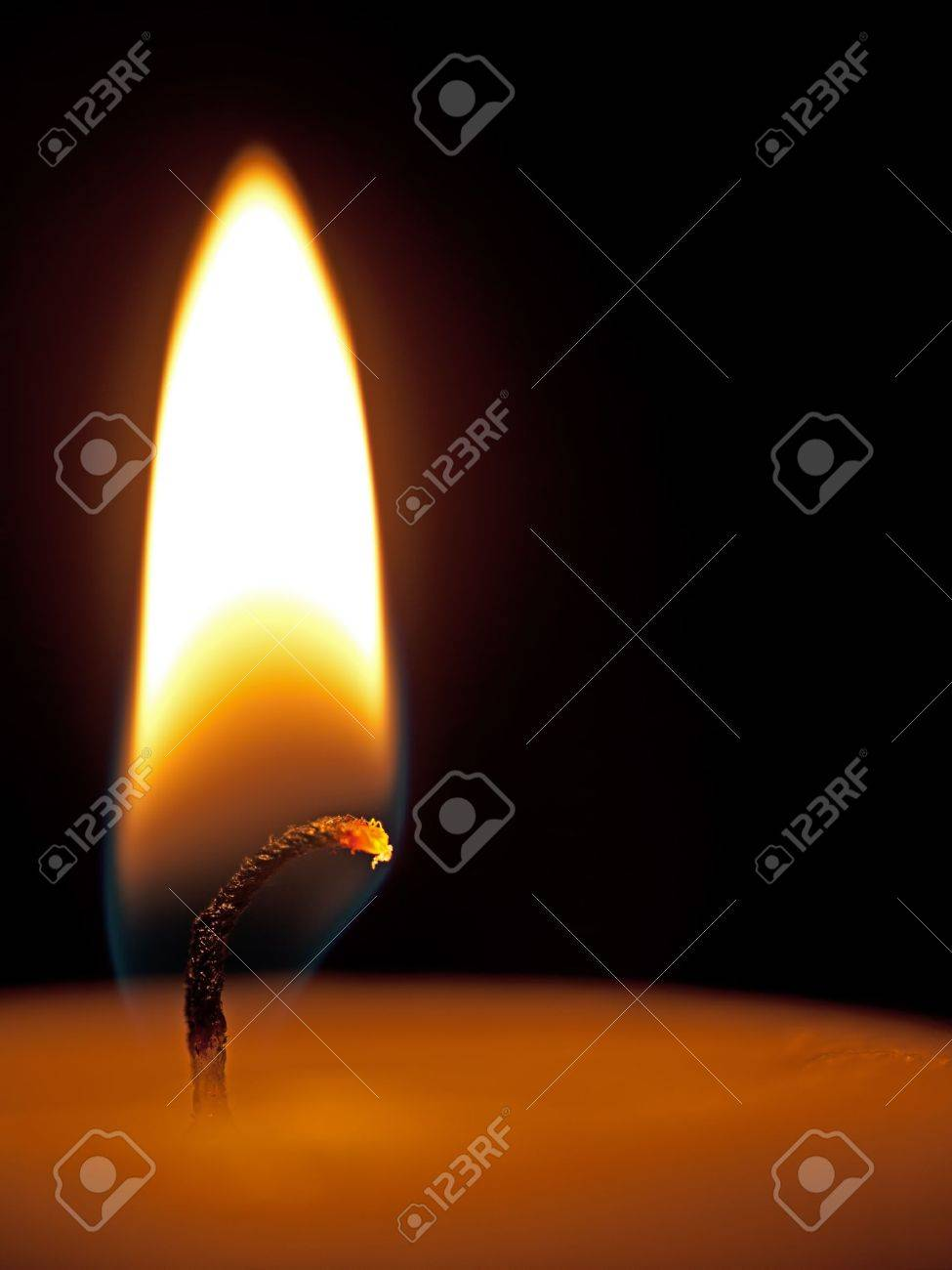 Candle detail - flame, macro Stock Photo - 10919702
