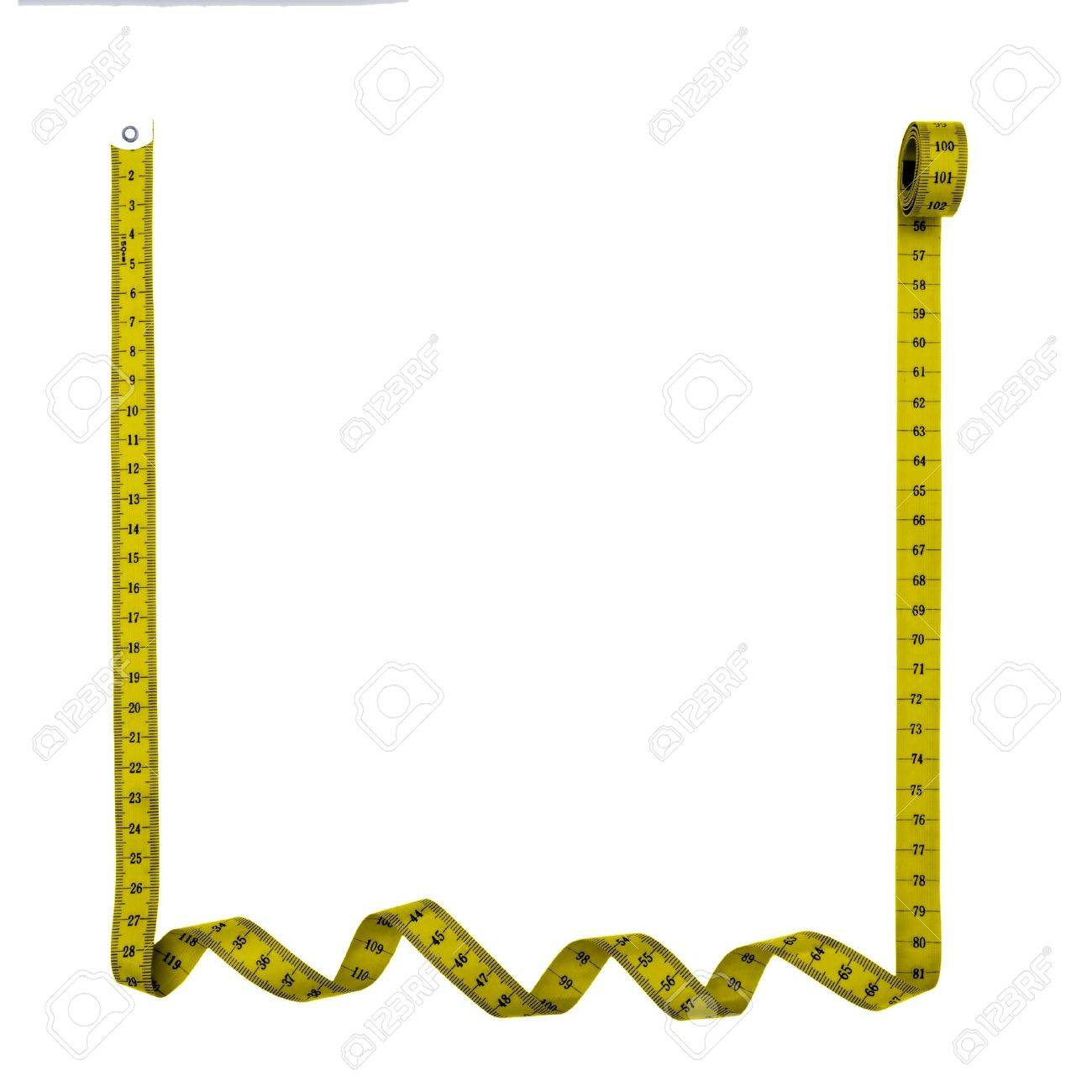 Tape measure square frame, background - isolated over white background Stock Photo - 14829555