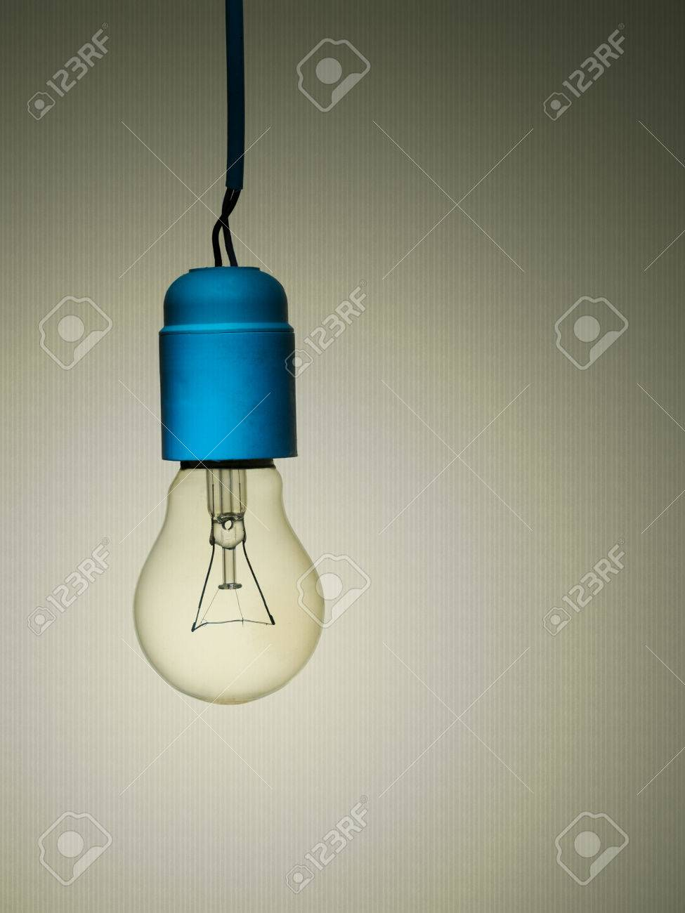 Wiring A Lightbulb Schematic Diagrams Incandescent Light Bulb Diagram Cyberphysics The Electric Vintage With Poor Stock Photo Picture And