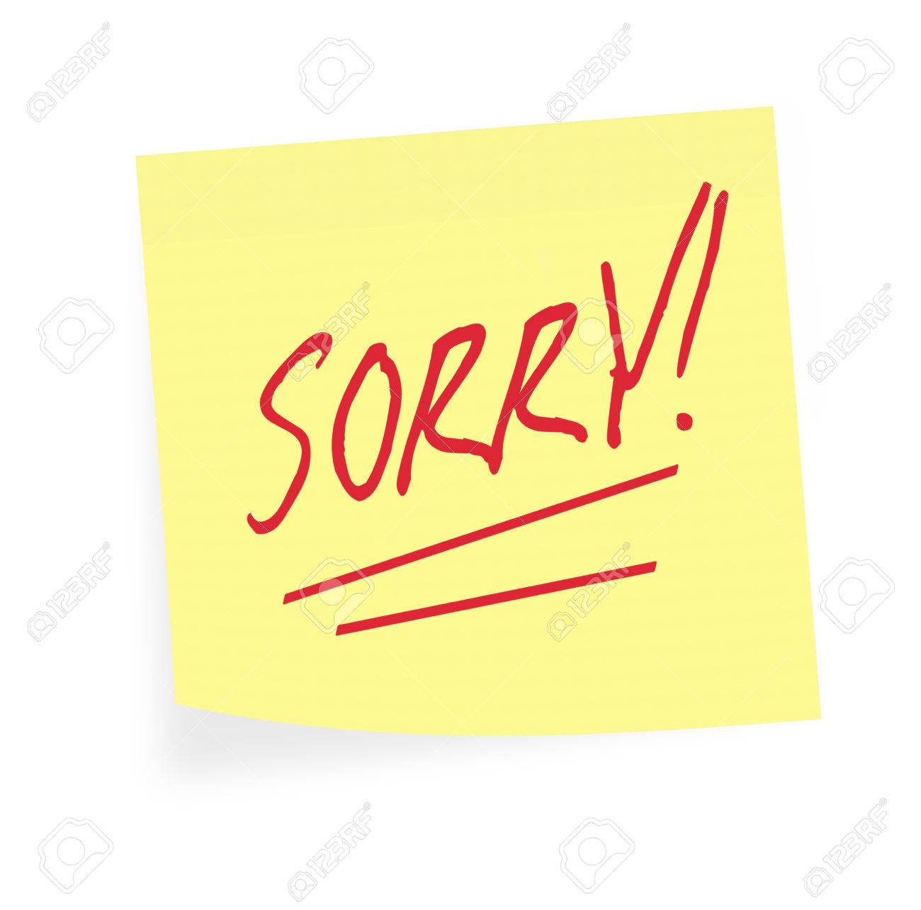 home or work apology note white background stock photo picture home or work apology note white background stock photo 29737610