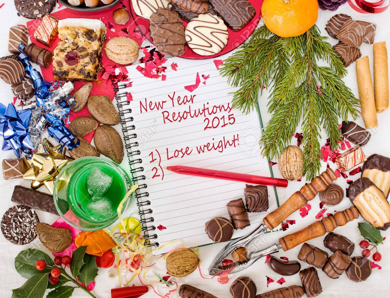 Overindulgence christmas festival followed by new year resolution overindulgence christmas festival followed by new year resolution to lose weight stock photo 30610162 ccuart Gallery