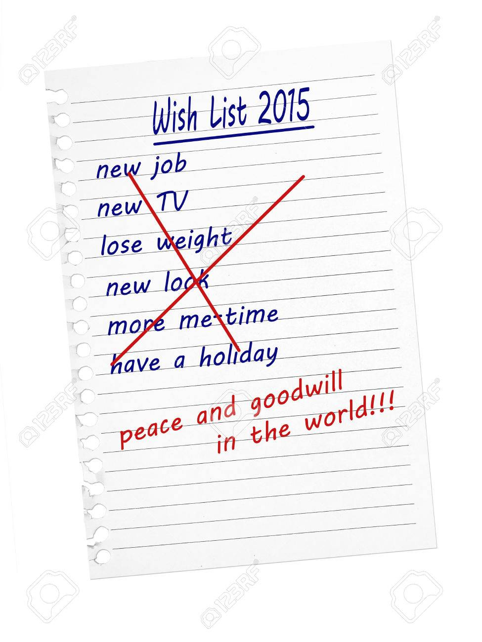 4976f7d29a1 Wish list for Christmas, New Year. Peace and Goodwill. Stock Photo -  31795850