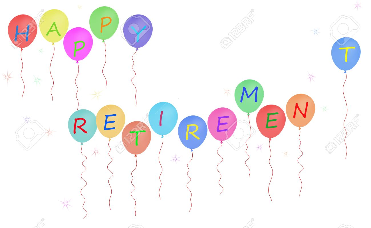 happy retirement party balloon message stock photo picture and rh 123rf com retirement party clip art borders