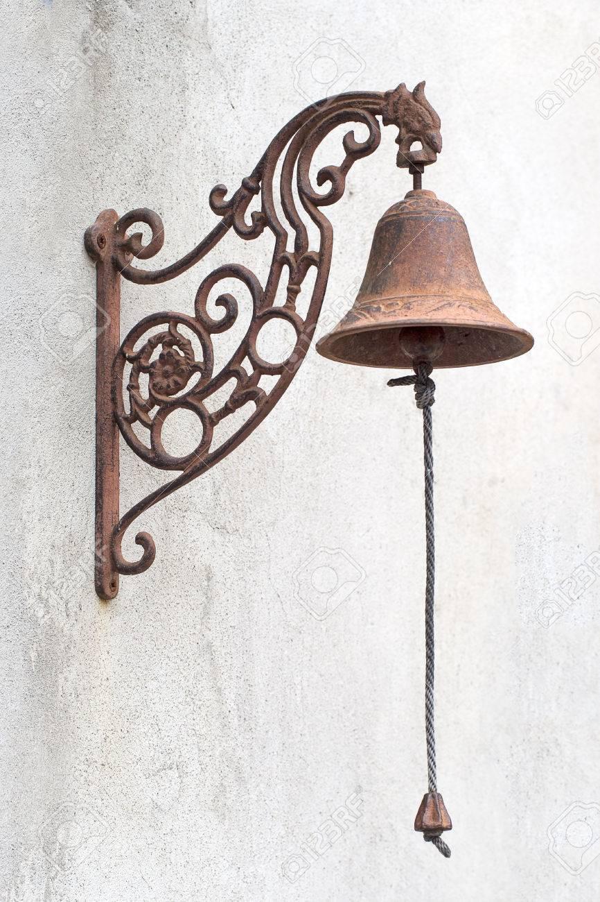 Antique doorbell, door bell with chain. Stock Photo - 38725465 - Antique Doorbell, Door Bell With Chain. Stock Photo, Picture And