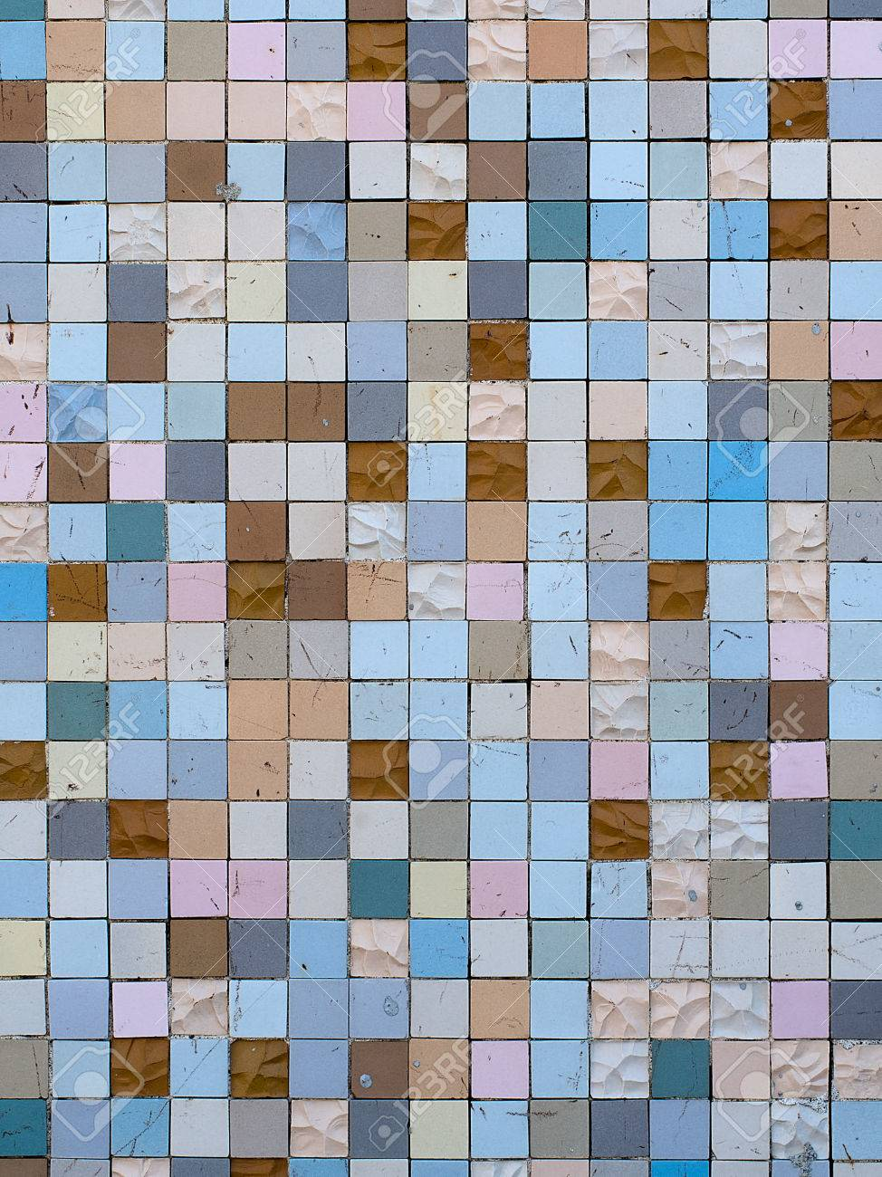 Traditional Italian Tessera, Small Tiles. Outdoors, Marked, Old ...
