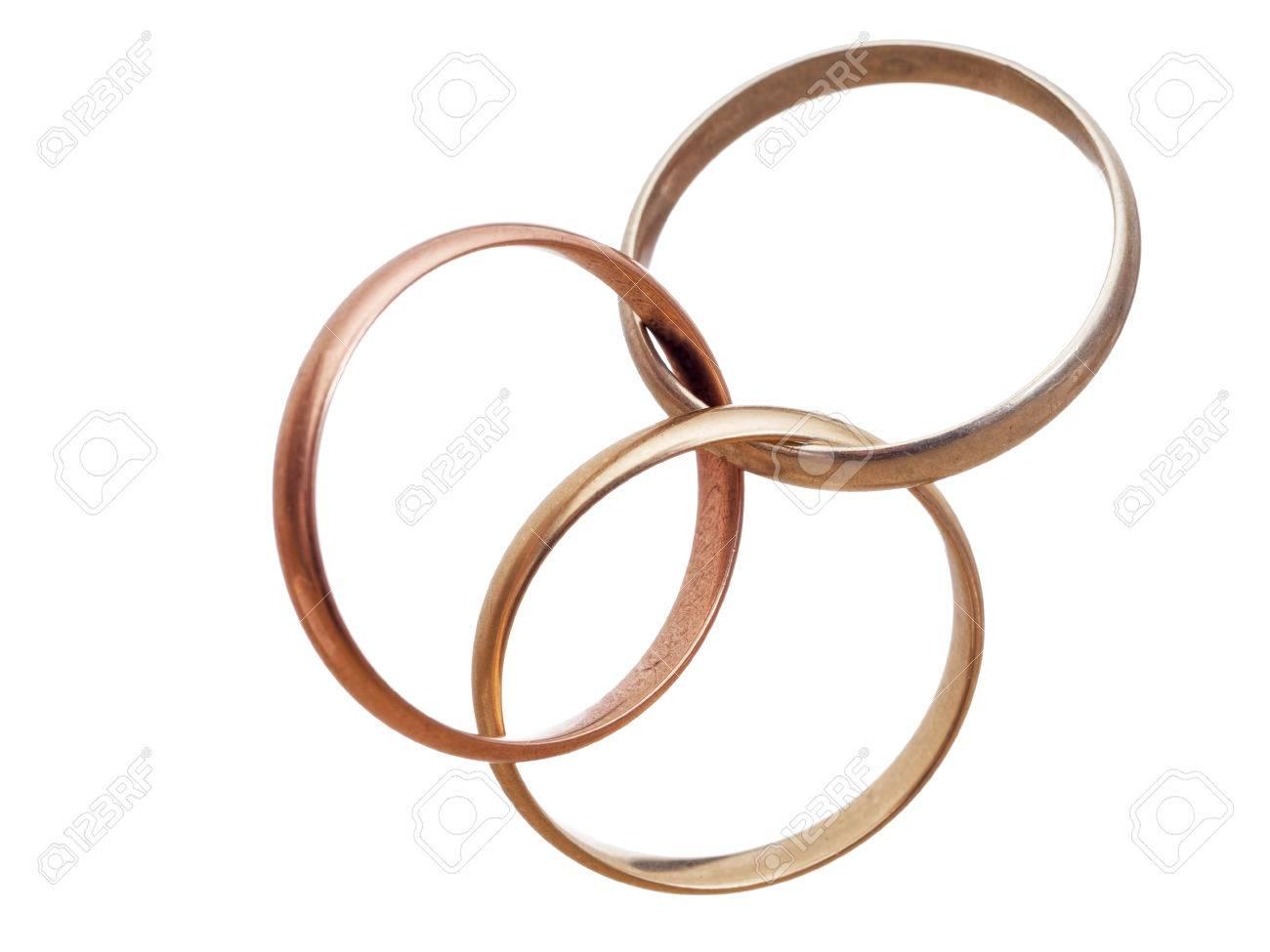 Interlocking Wedding Rings.Three Interlocking Wedding Rings Modern Marriage Bigamy