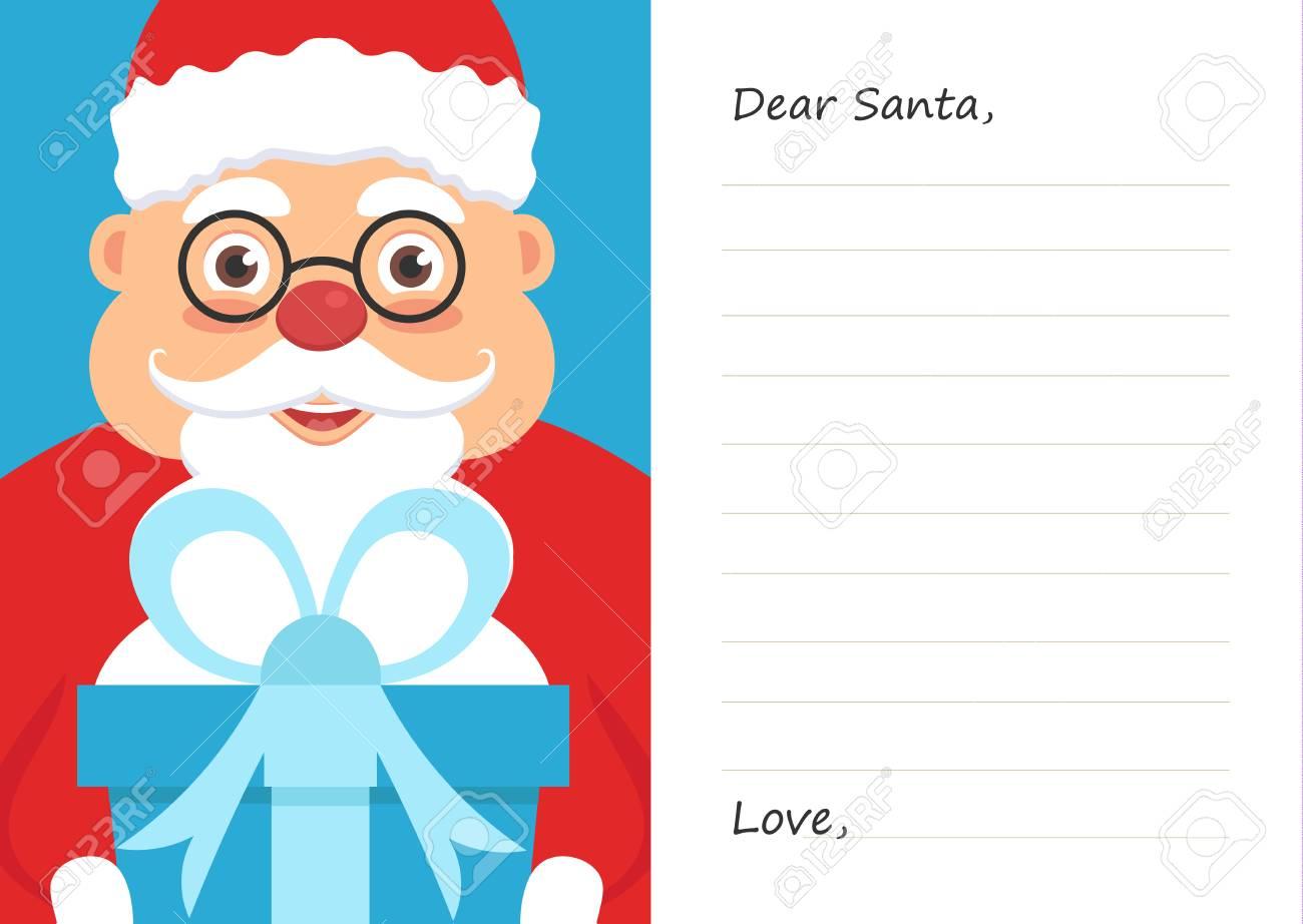 Brief Lieber Weihnachtsmann Für Weihnachten Oder Neujahr Postkarte
