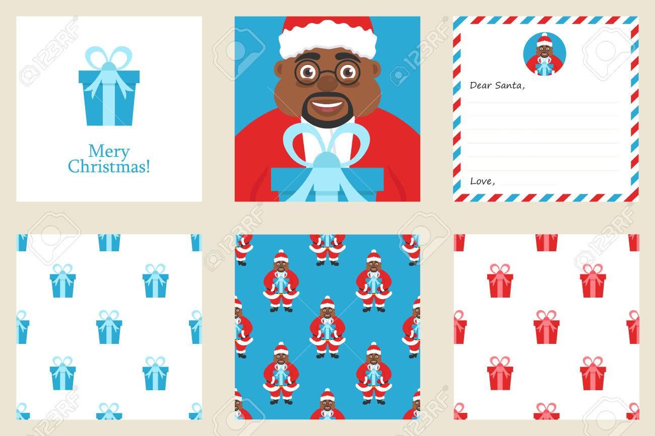 Frohe Weihnachten Und Neujahr Grußkarten-Set. Inklusive Urlaub Motto ...