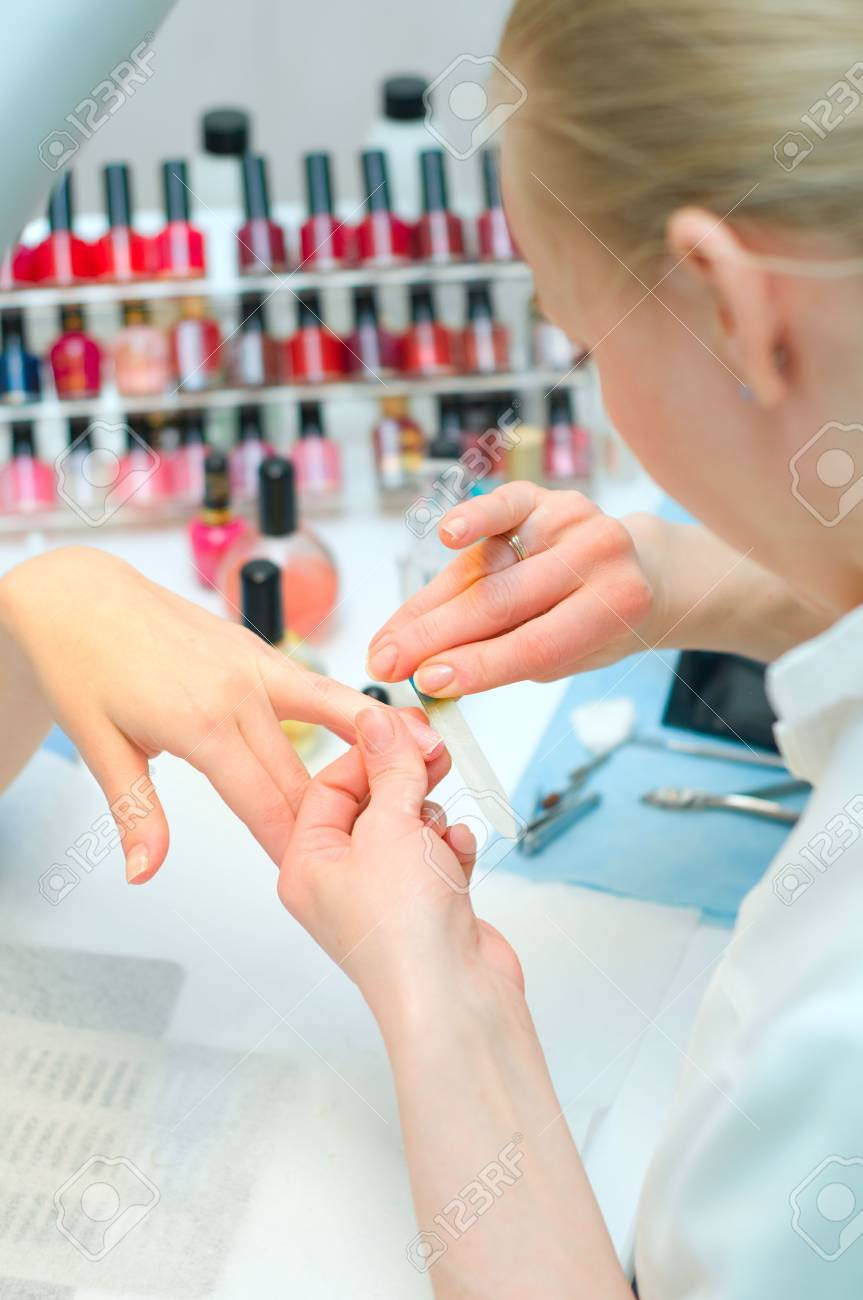 Manicure in process Stock Photo - 6631354