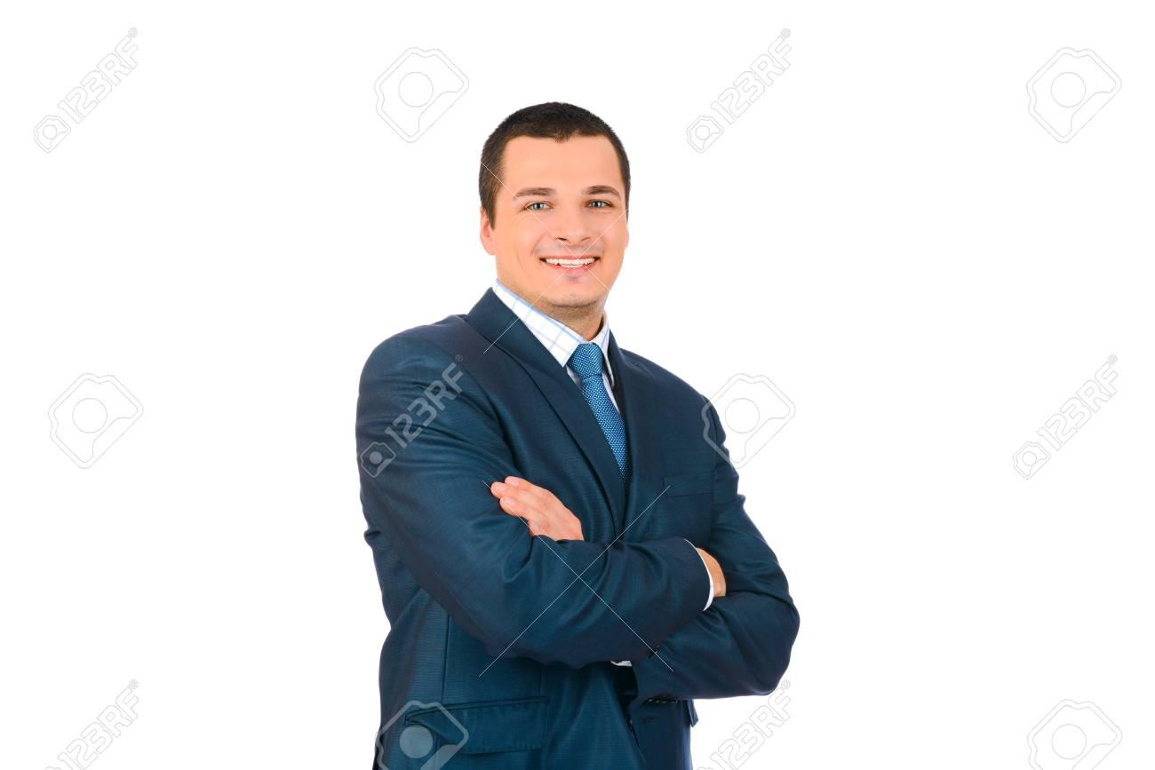 Portrait of a happy smiling business man, isolated on white background Stock Photo - 17099058