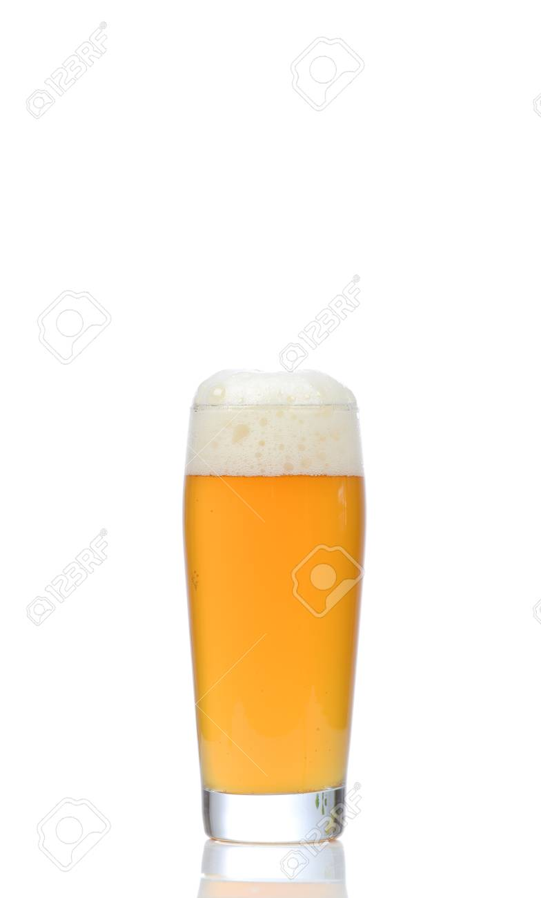 Glass of beer on white background Stock Photo - 18739650