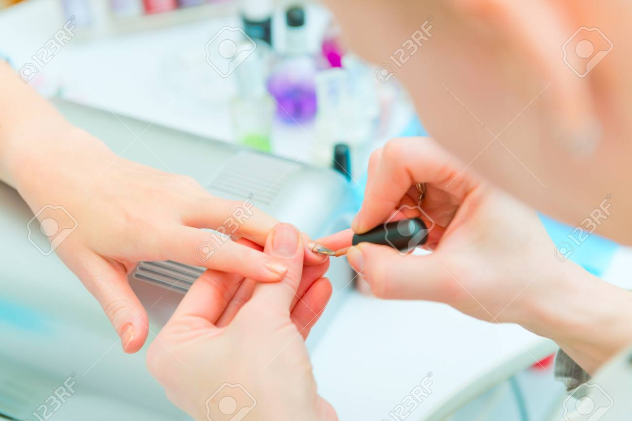 Manicure in process Stock Photo - 25123359