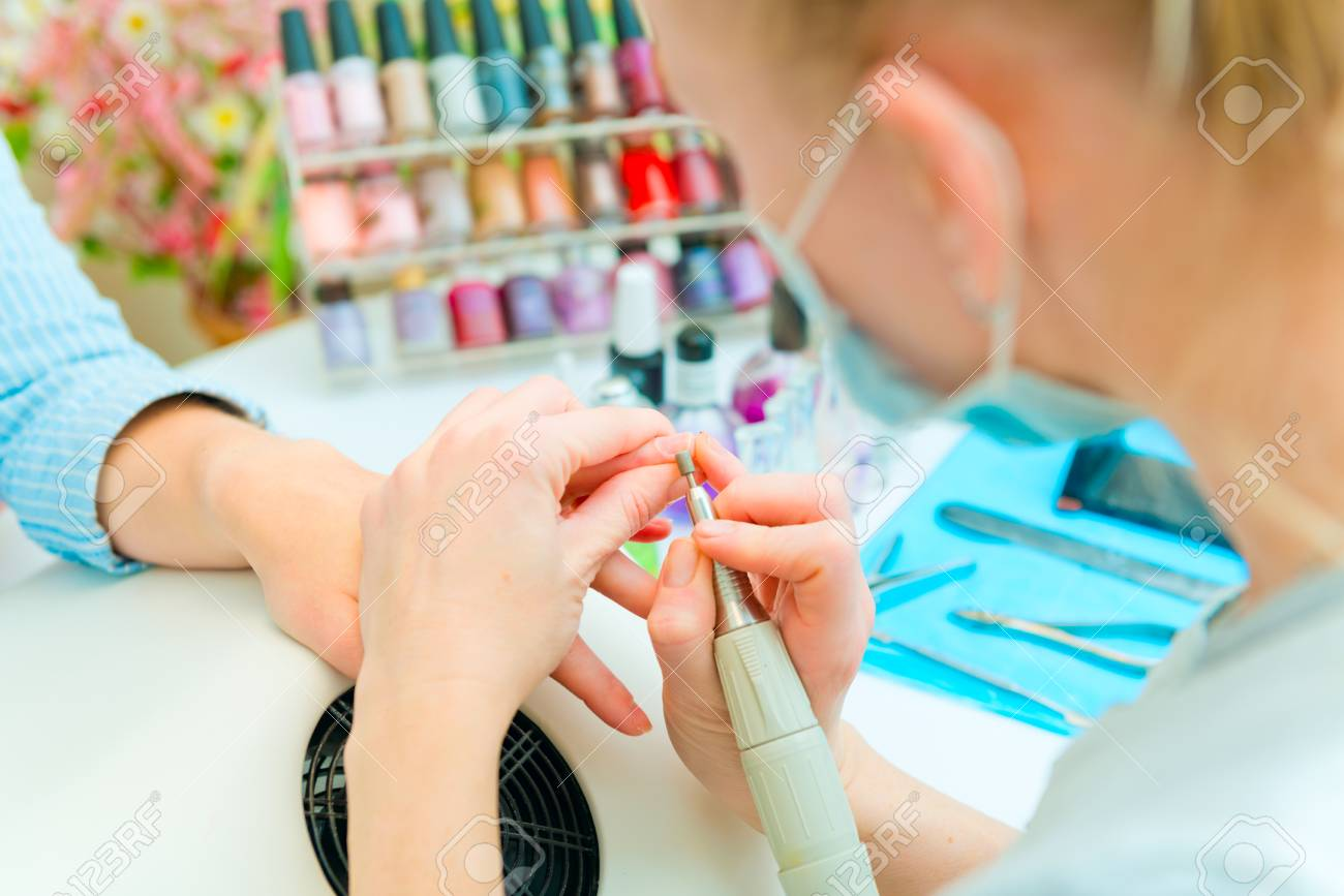 Manicure in process Stock Photo - 25123362