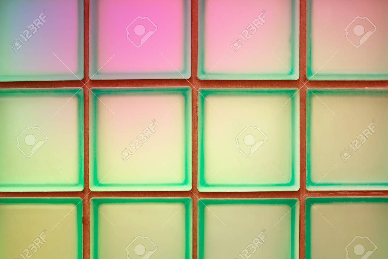 Tilde Glass Block Wall Background Design Stock Photo, Picture And ...