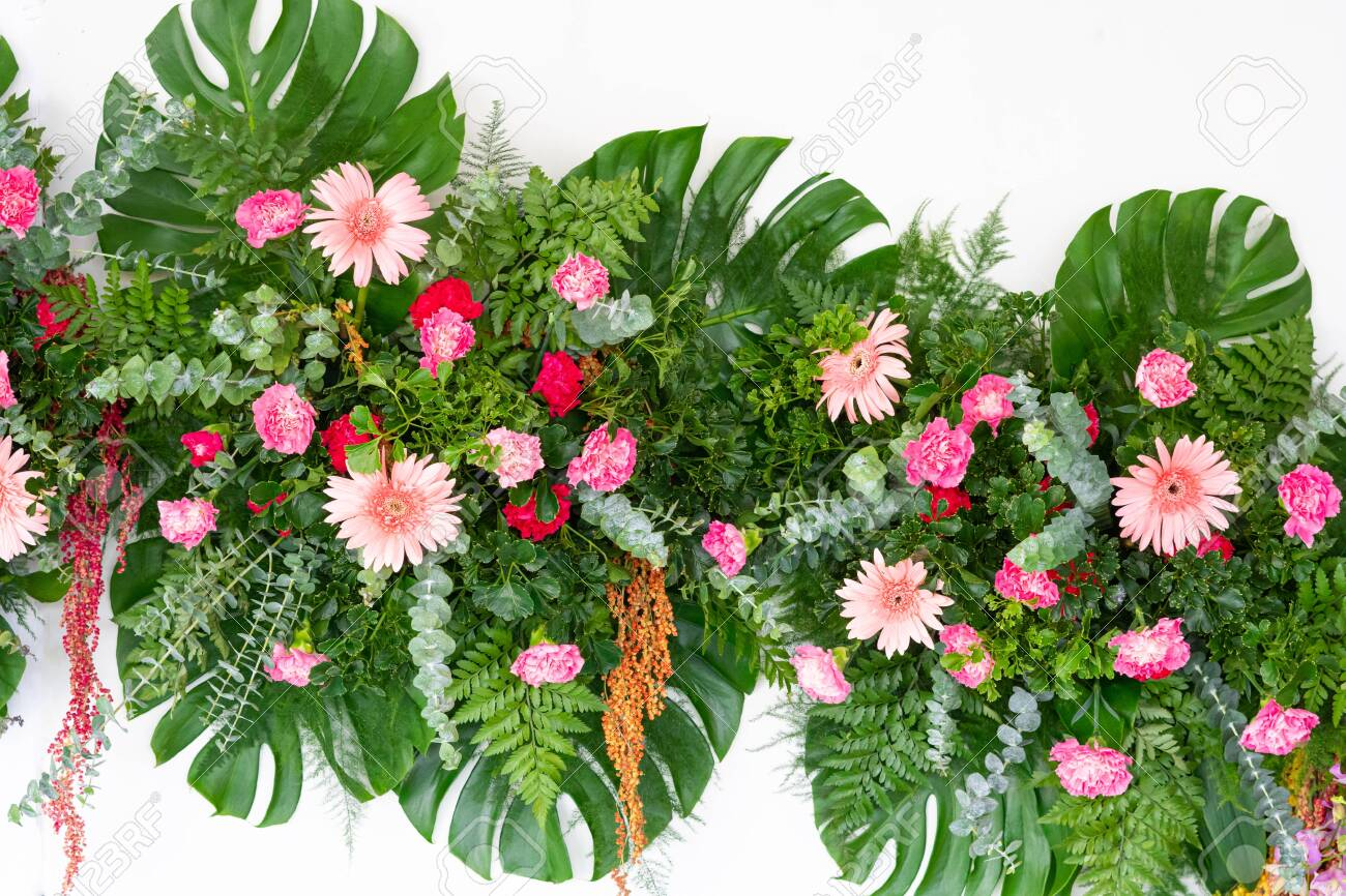 Tropical Leaves And Flower Foliage Plant Bush Floral Arrangement Stock Photo Picture And Royalty Free Image Image 133484882 Alibaba.com offers 427 tropical arrangements products. 123rf com