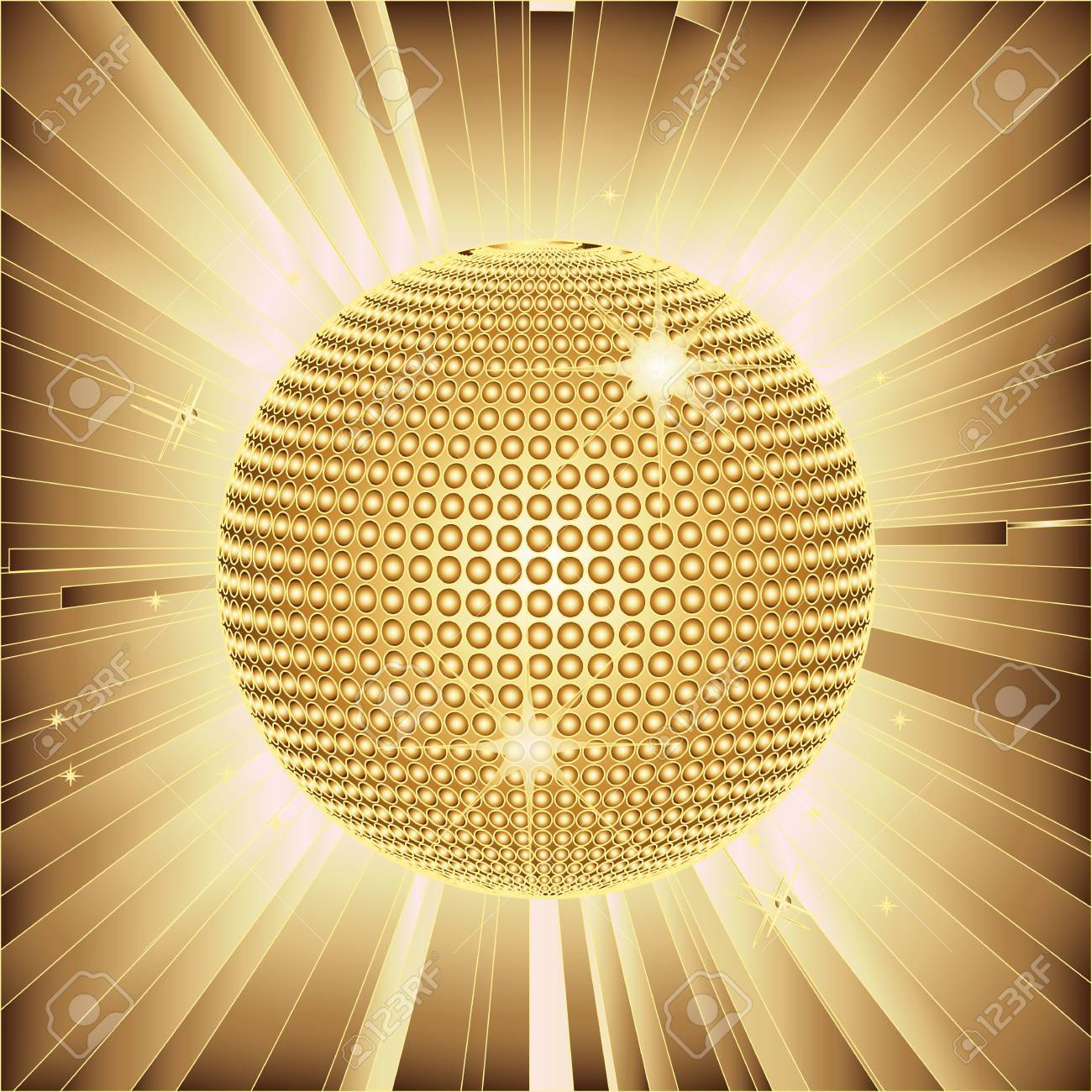 Gold Sparkles Clipart Sparkling Gold Disco Ball And