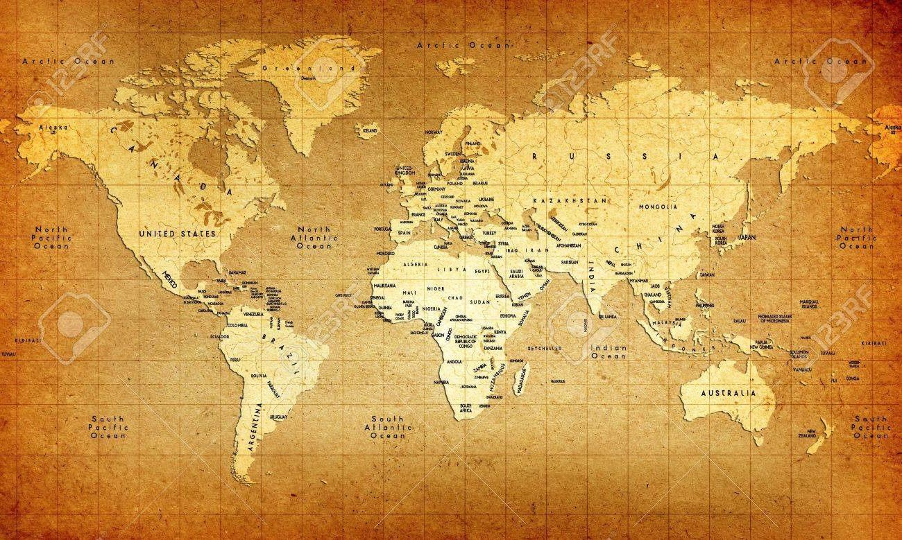 Detailed Old World Map Stock Photo, Picture And Royalty Free Image ...