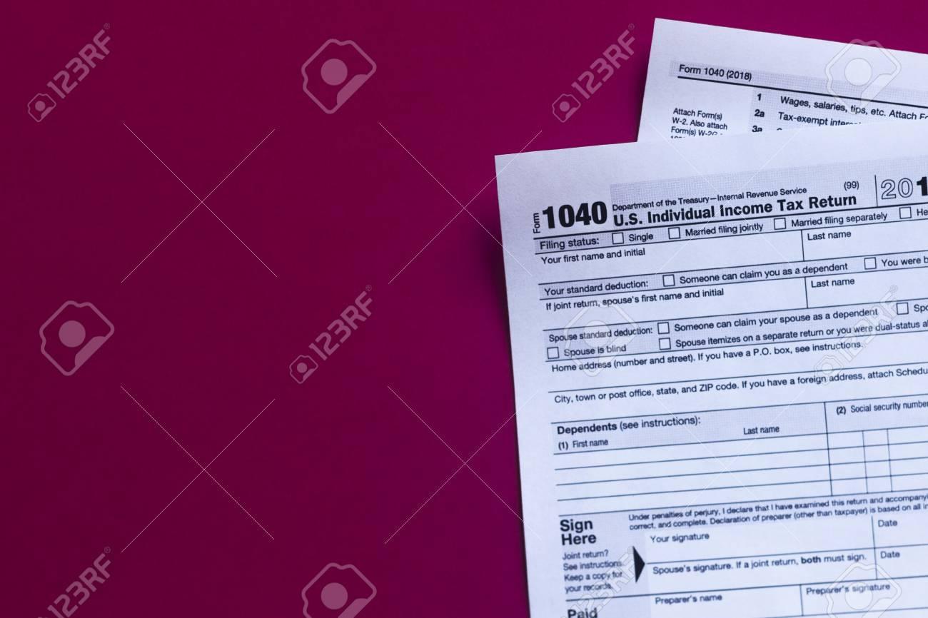 1040 tax form 2018  U S Individual Income Tax Return 2018