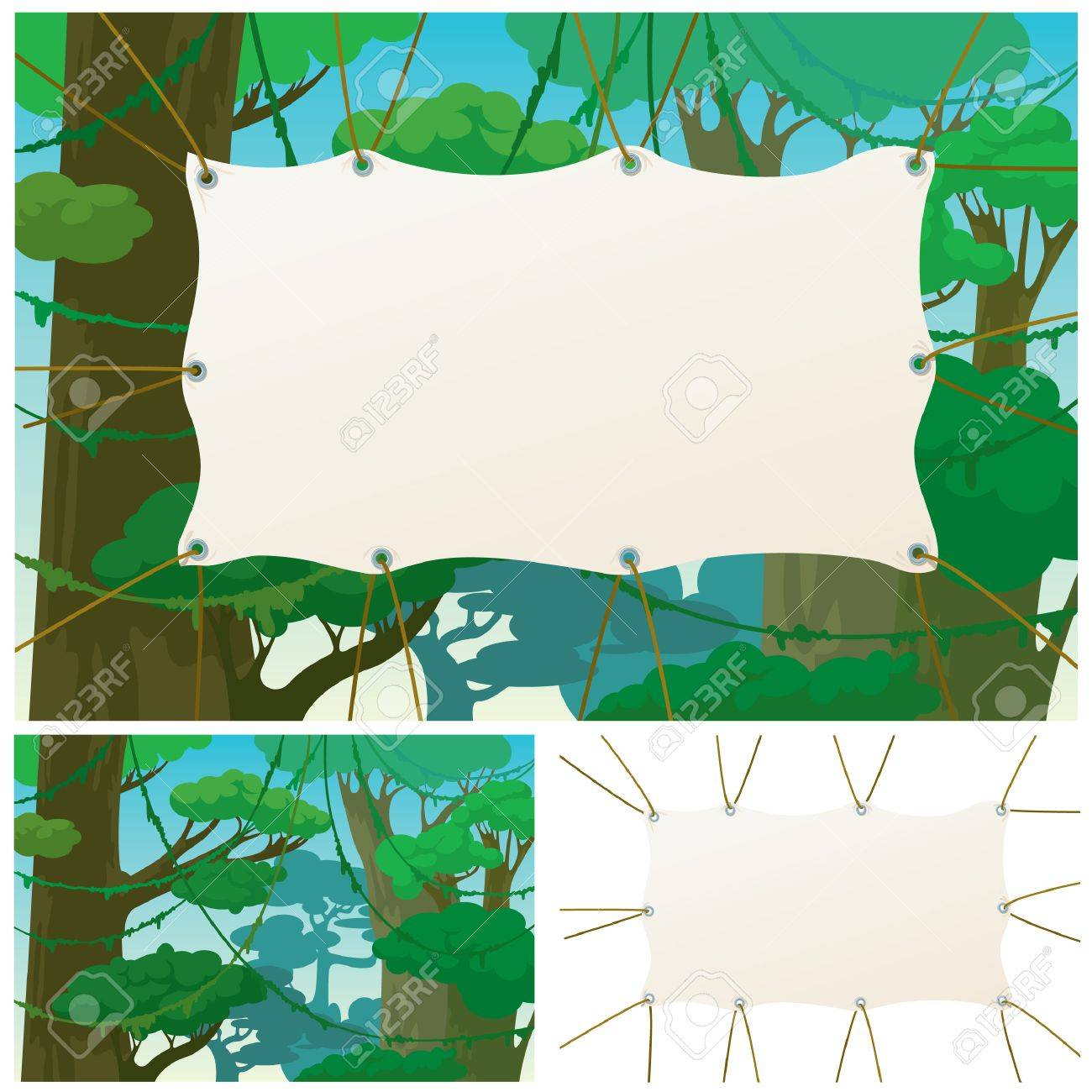 Banner in impassable jungle Stock Vector - 7255346
