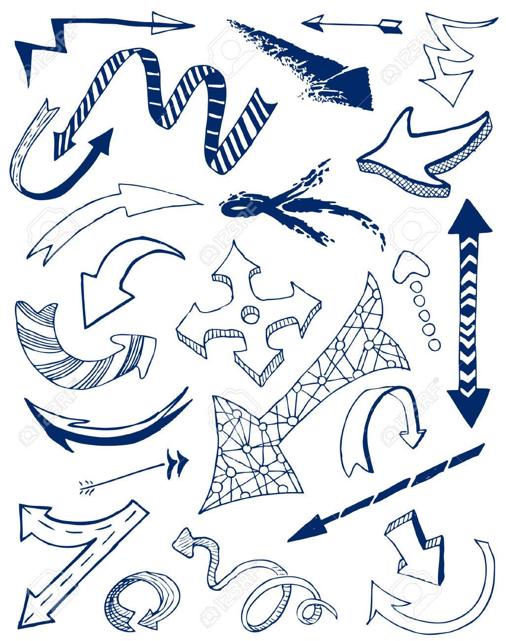 Arrows doodles set. Stock Vector - 7269476
