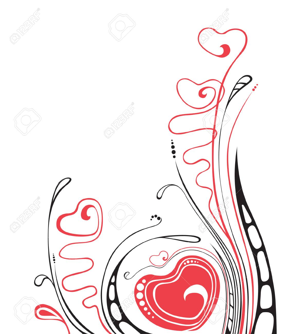 isolated valentine`s  ornament with heart Stock Vector - 7269434