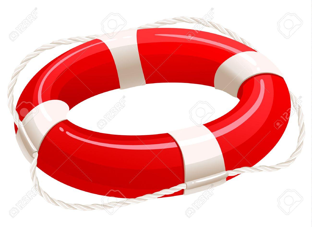 Life buoy, cartoon illustration Stock Vector - 7298150