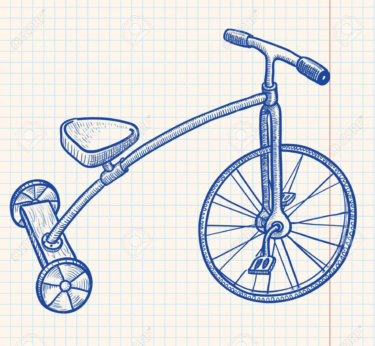 Retro-styled kid tricycle Stock Vector - 7358975