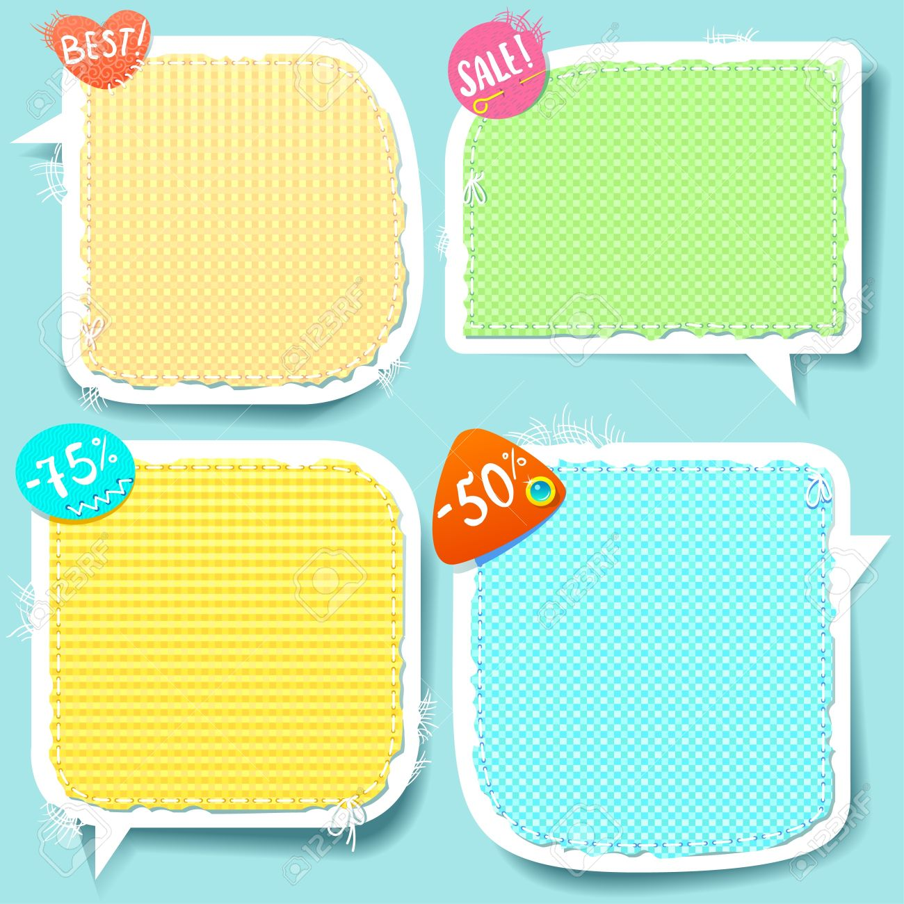 Cute Speech bubbles templates set Stock Vector - 13218767