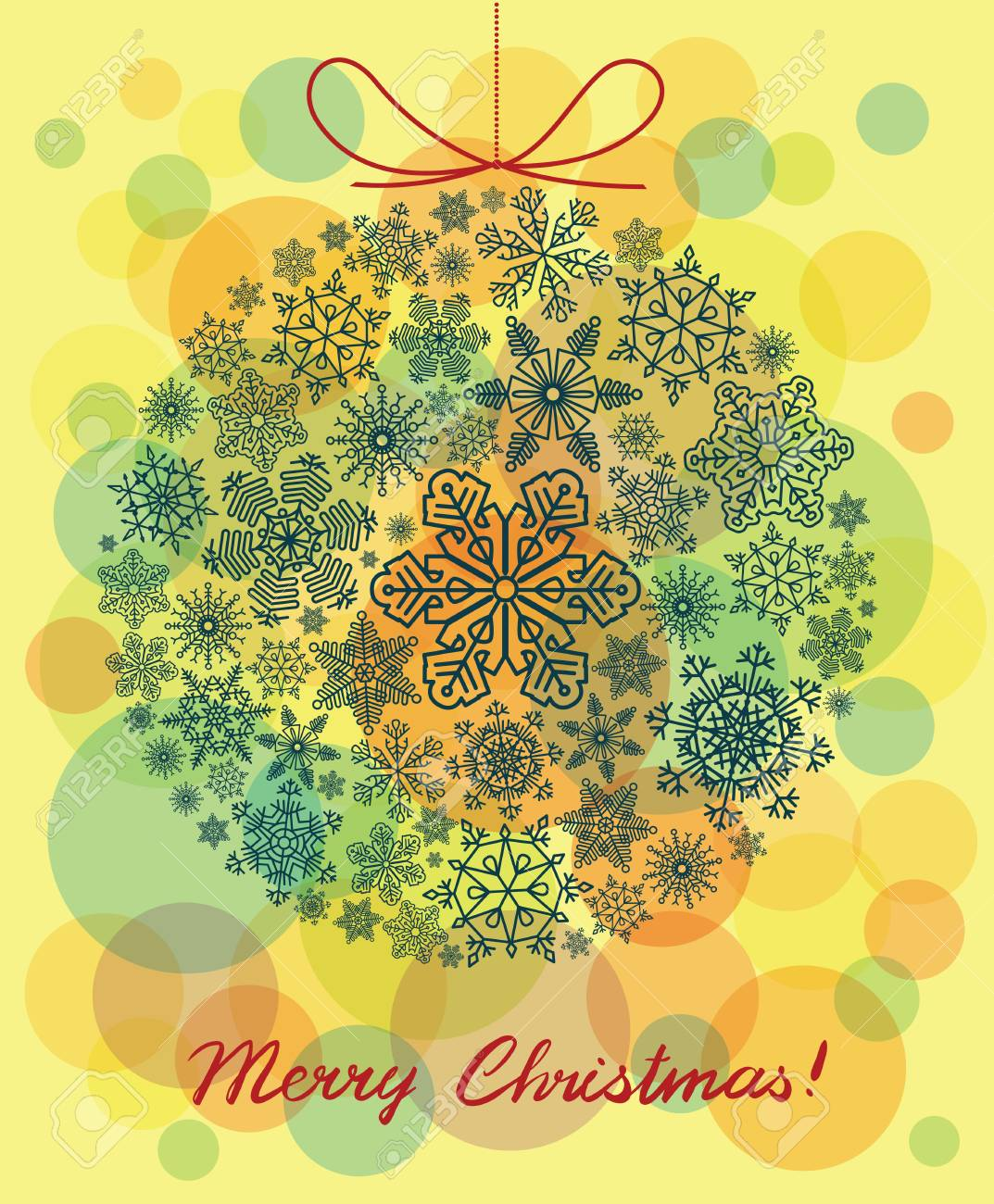 Vector background with Christmas ball Stock Vector - 16258799