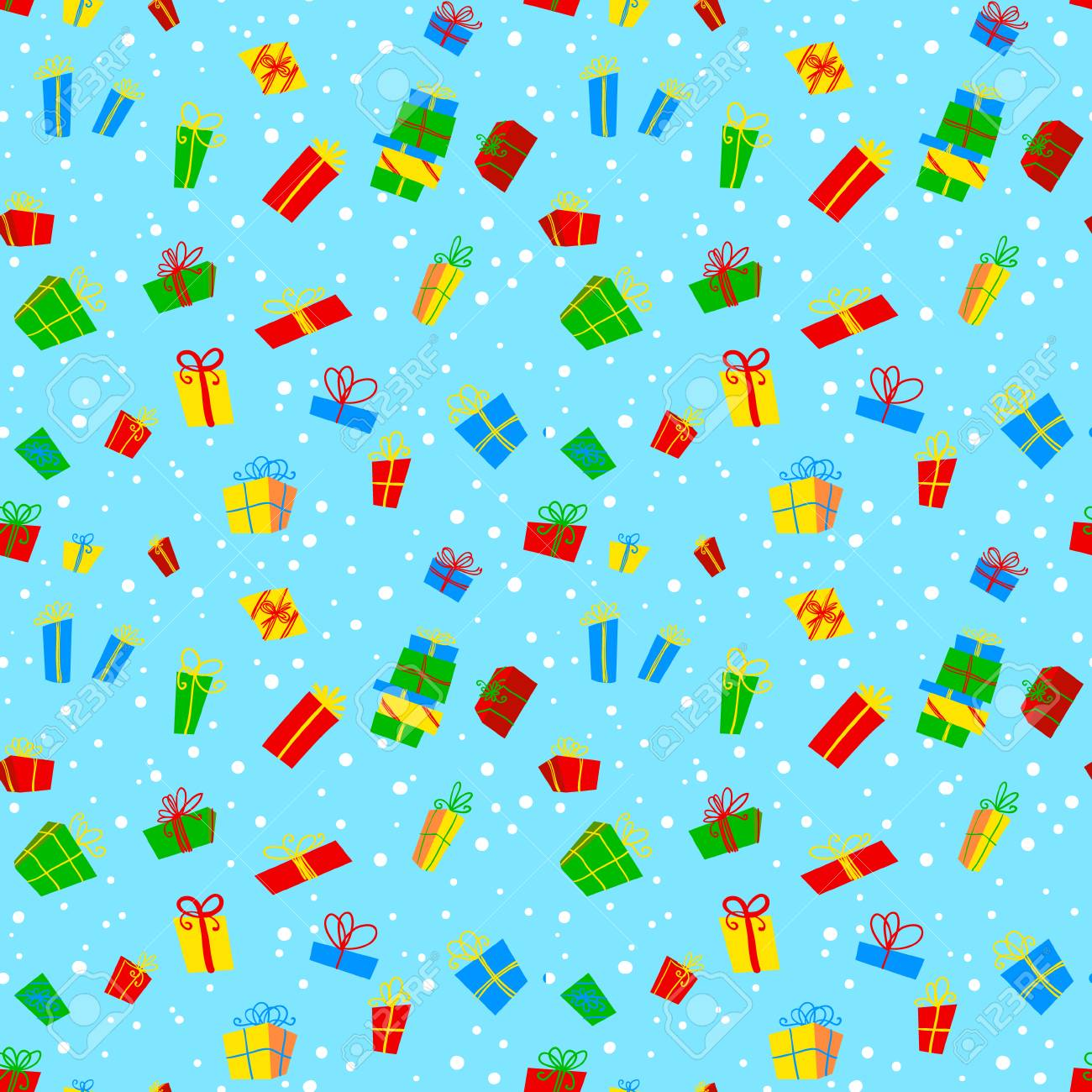 seamless pattern with gift boxes background with holidays theme christmas birthday new