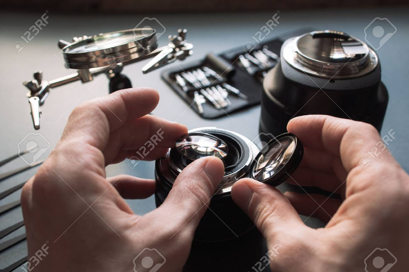 Precision prime optical dslr lens service, adjustment and alignment