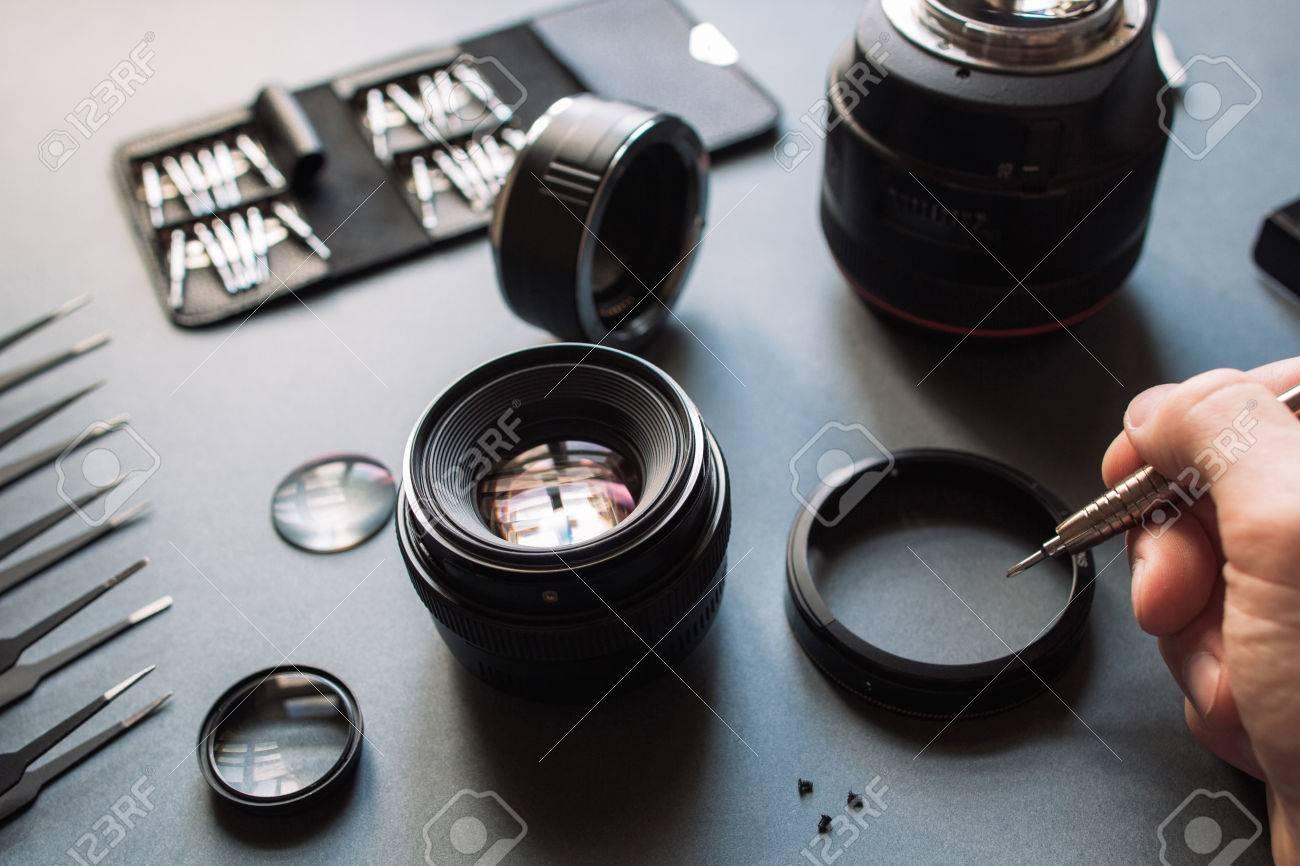 Precision optical dslr lens service, adjustment and alignment