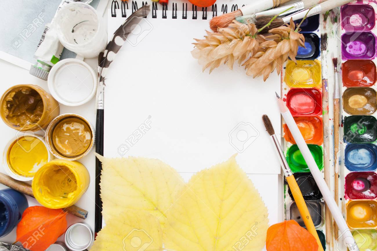 Art Drawing Painting Dye Color Mockup Workshop Artist Creativity