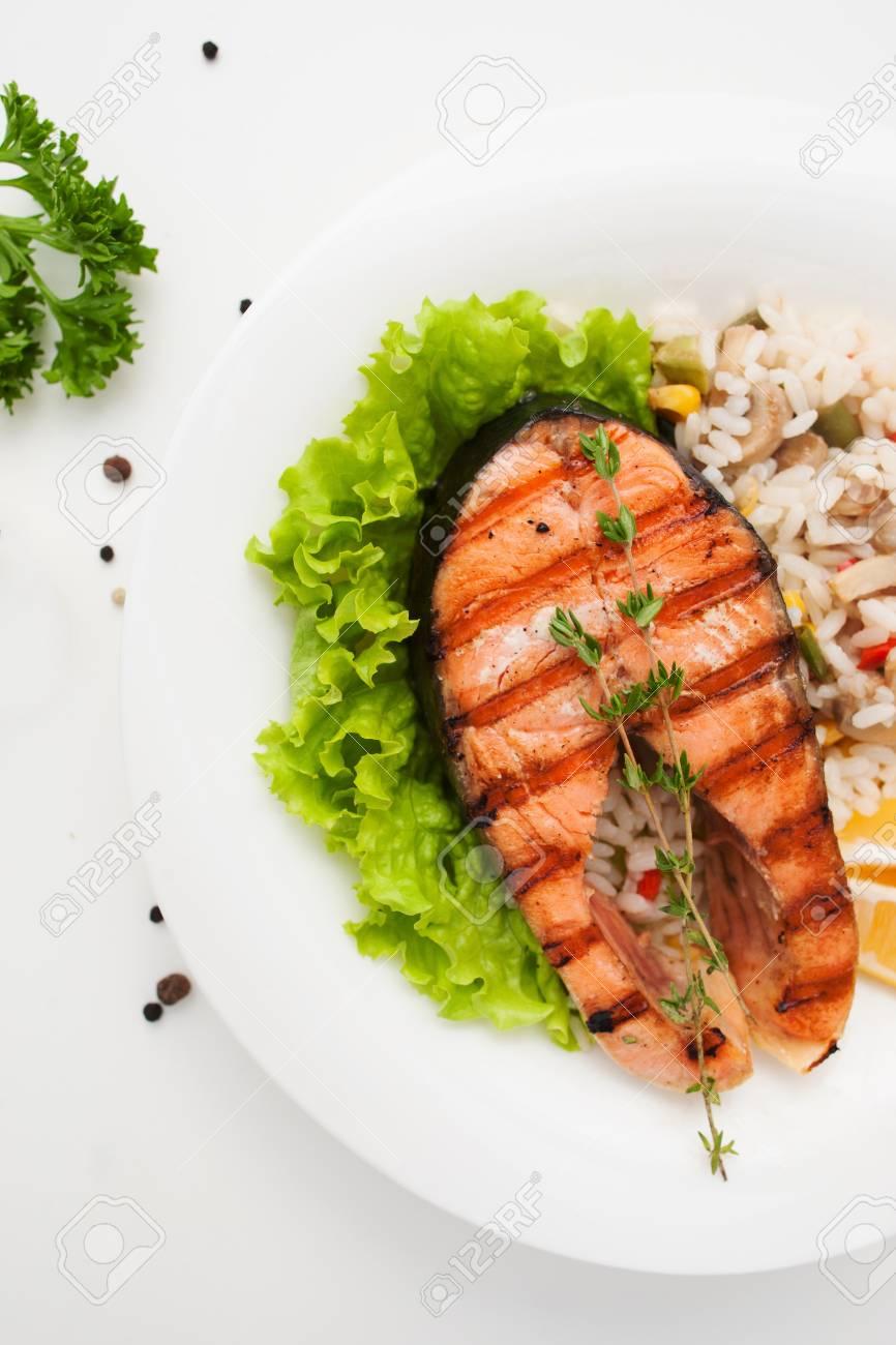 Food Salmon Risotto Seafood Mediterranean Cuisine Restaurant